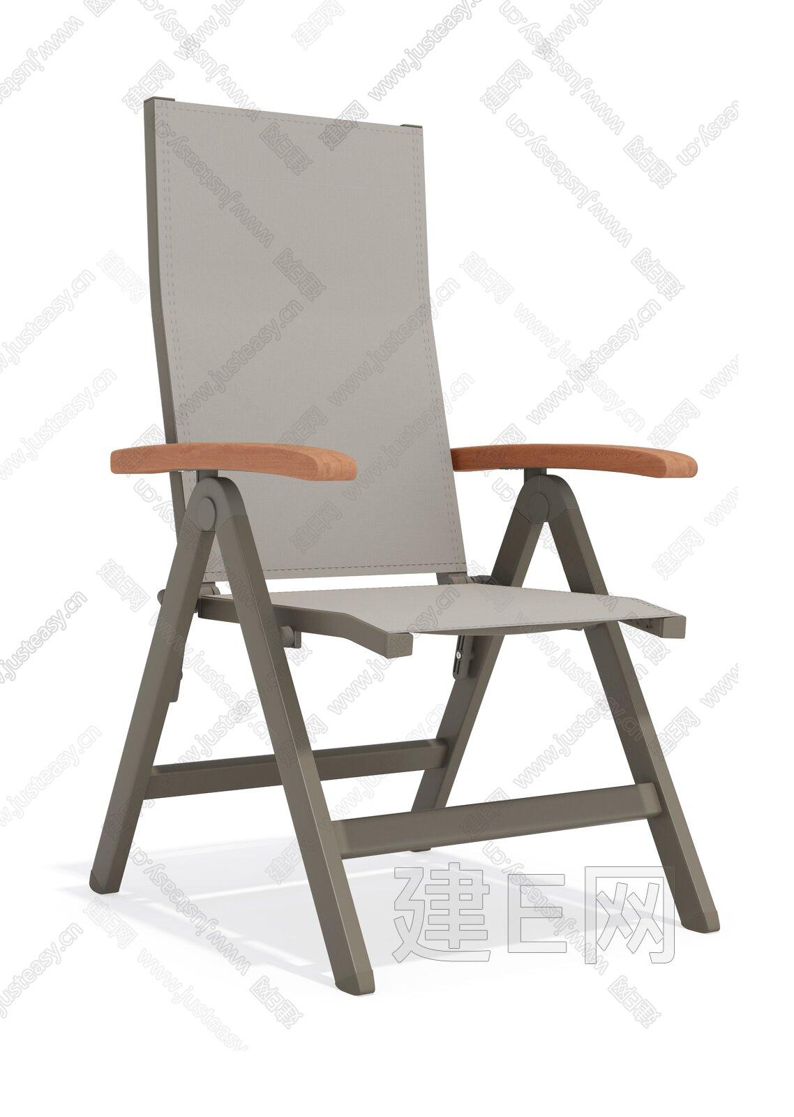 sunair 诗乐尔 现代可调节网布椅3d模型