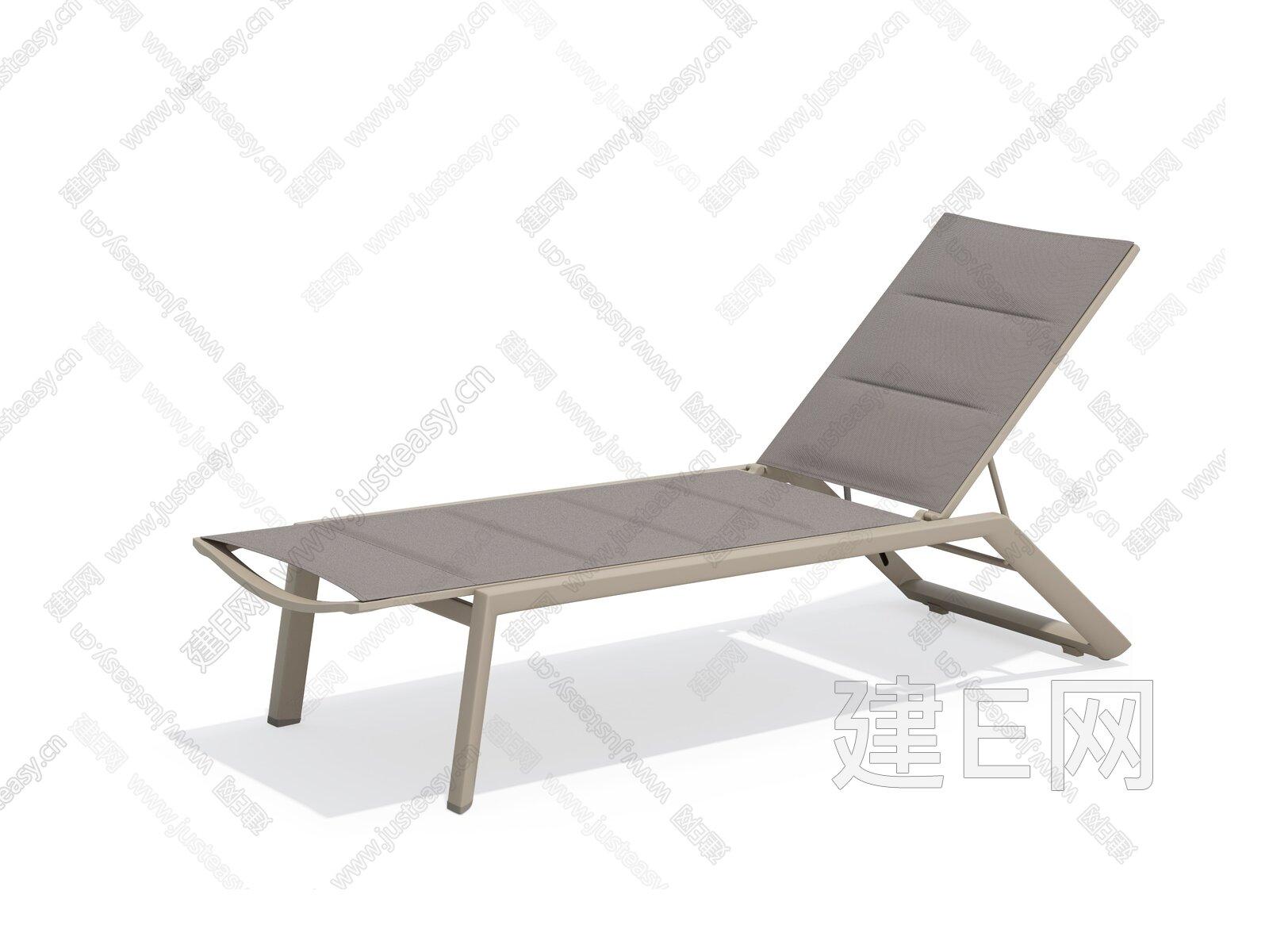 sunair 诗乐尔 现代户外躺椅3d模型