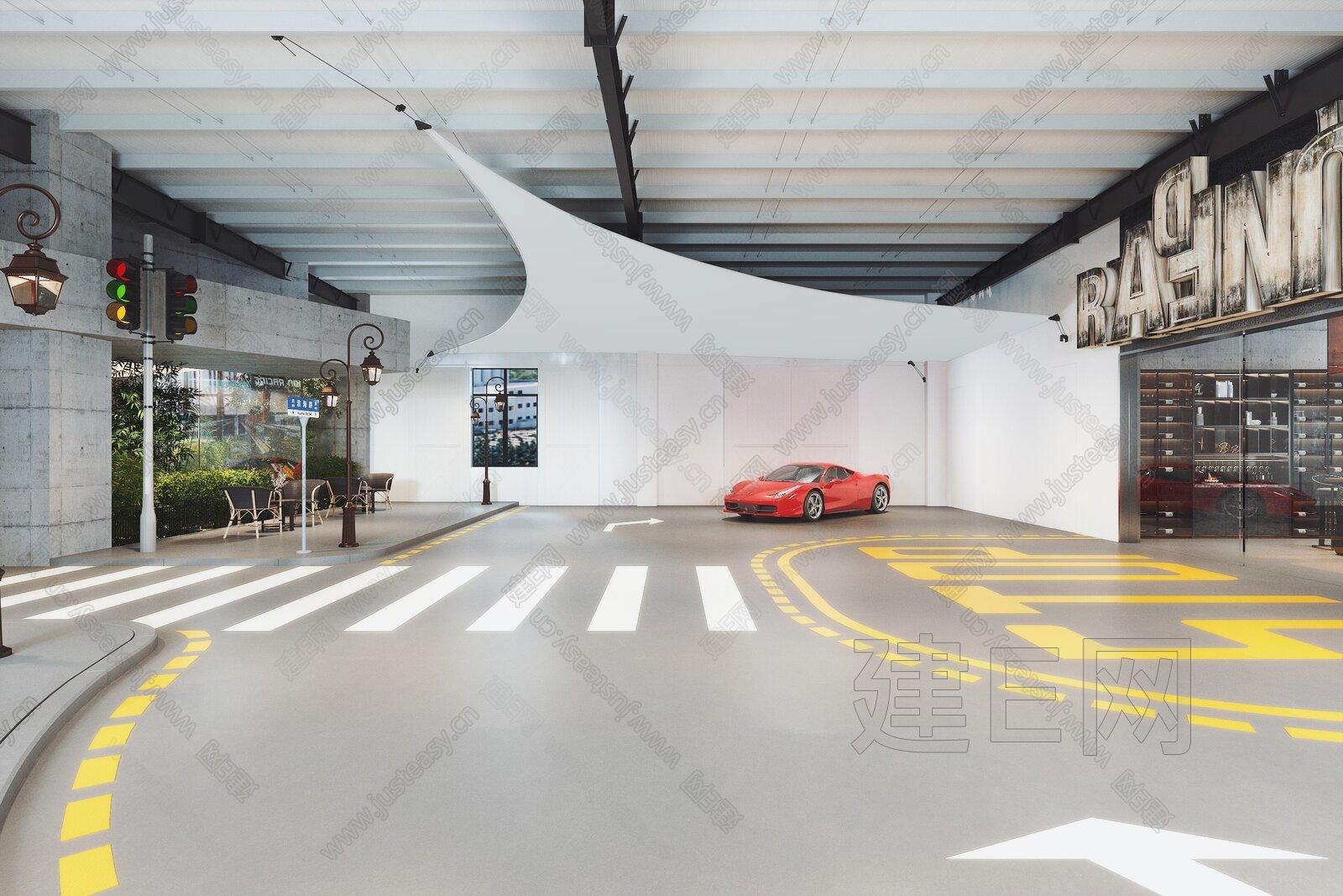现代豪车俱乐部3d模型