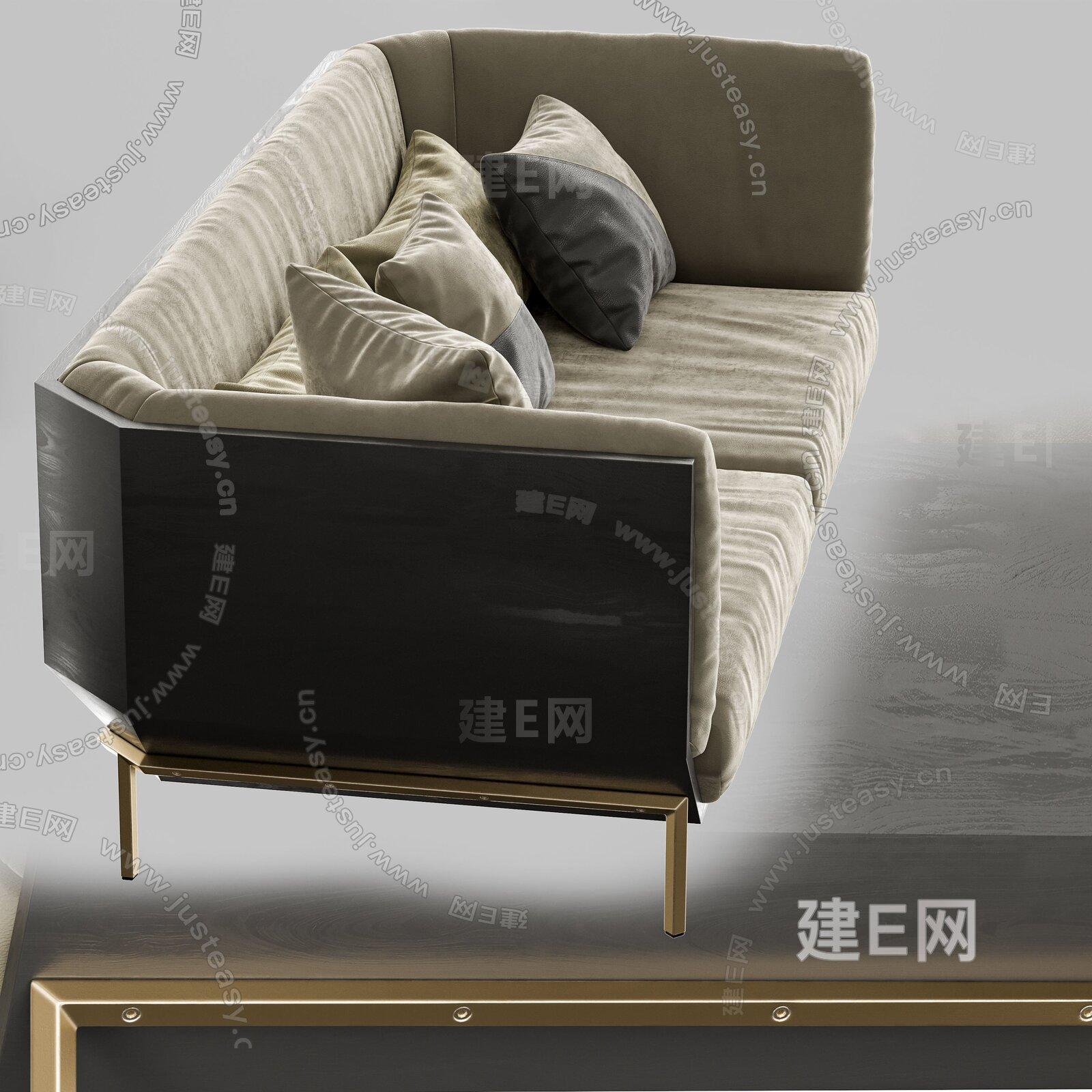 Shake Prism 现代双人沙发3d模型