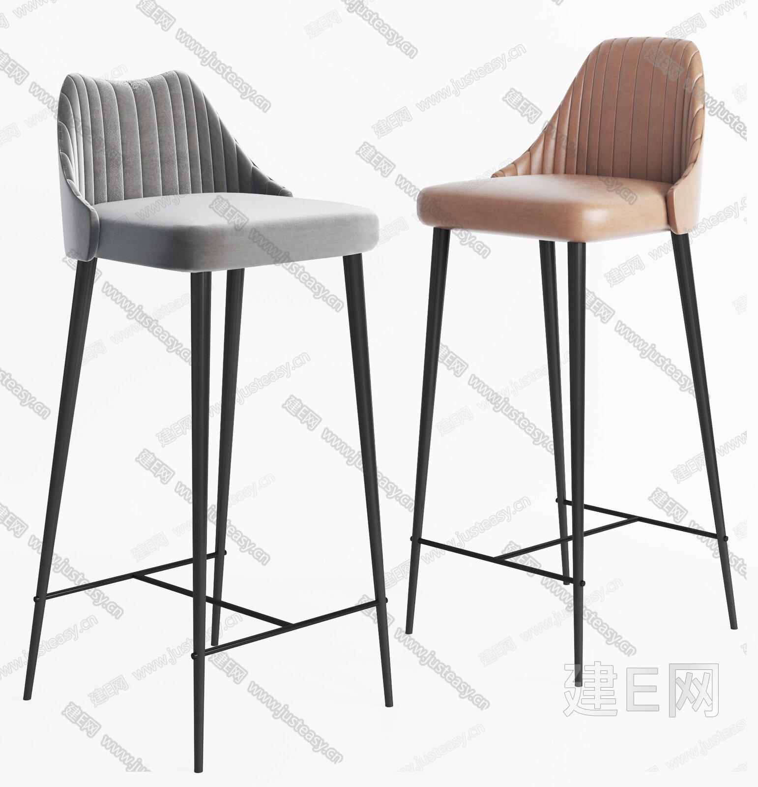 现代吧台椅 3d模型