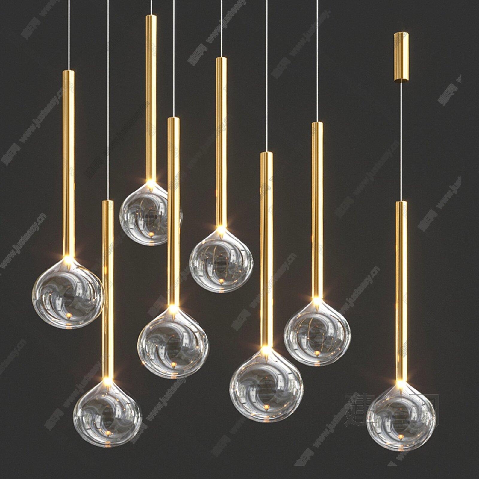 Bonaldo Sofi 现代金属玻璃吊灯3d模型
