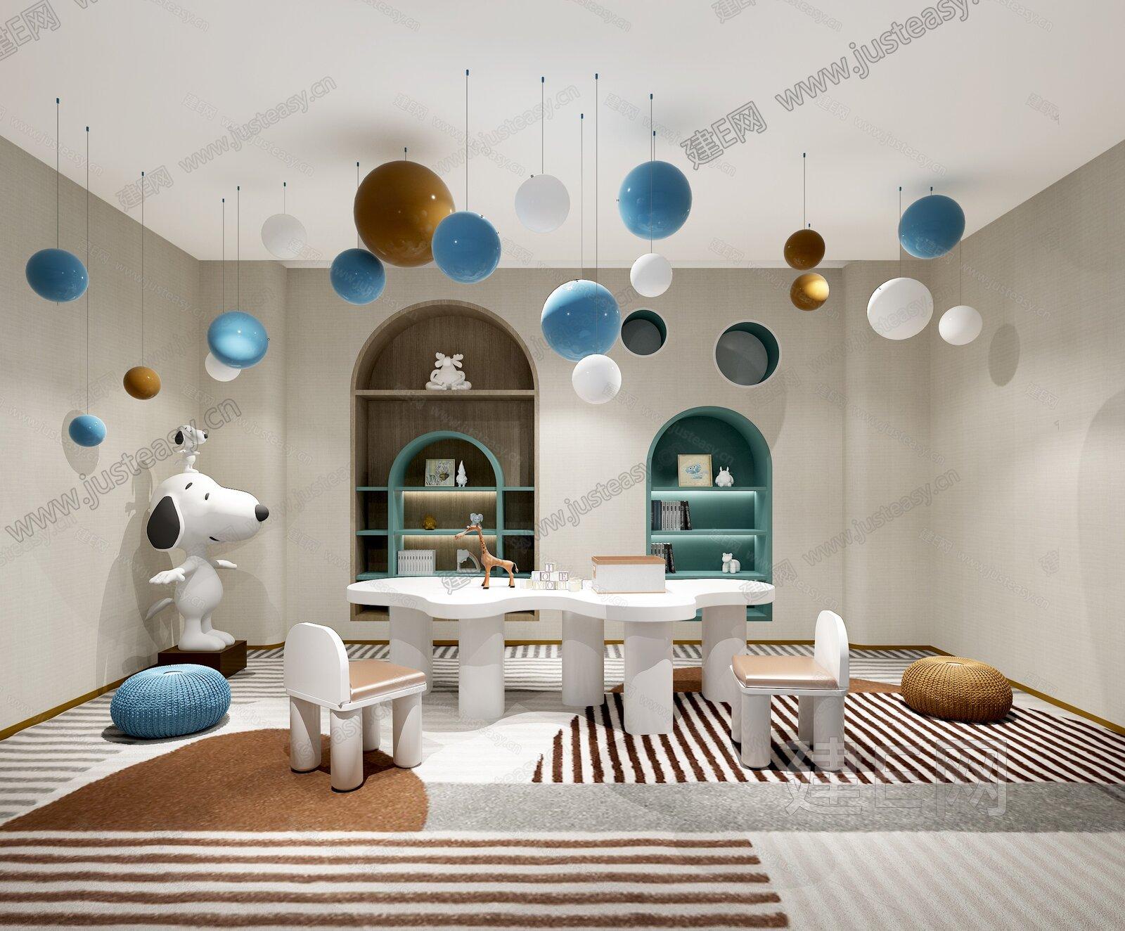 伊派设计 现代售楼处儿童娱乐区3d模型