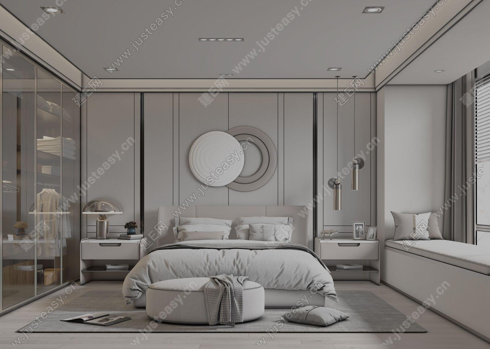 现代卧室sketchup模型