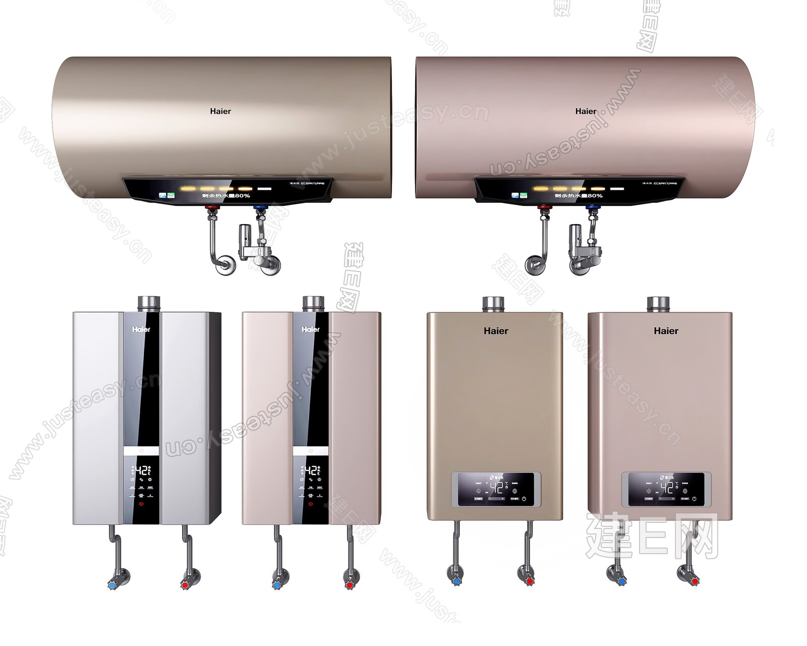 现代热水器组合3d模型