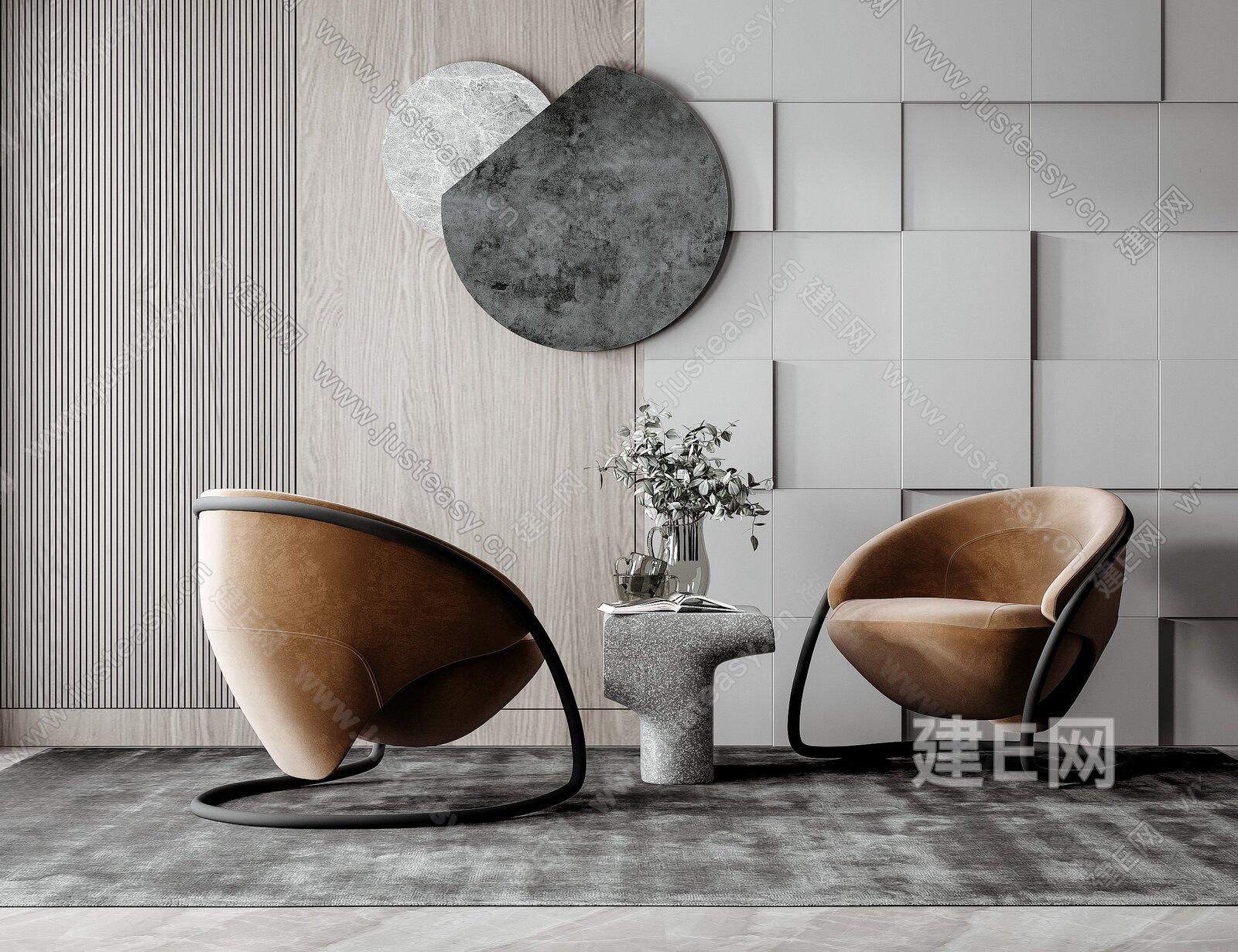 现代单椅3d模型