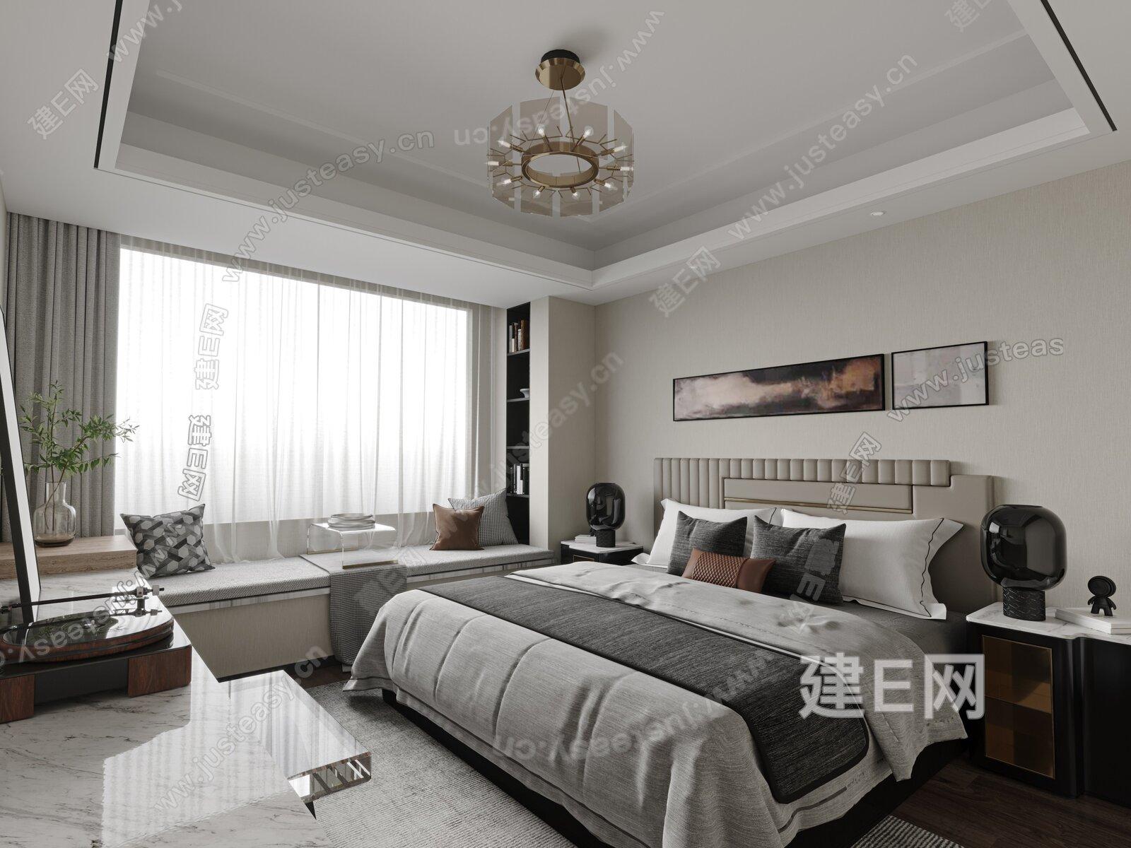 BEYOUND 必扬设计 现代轻奢卧室 3d模型