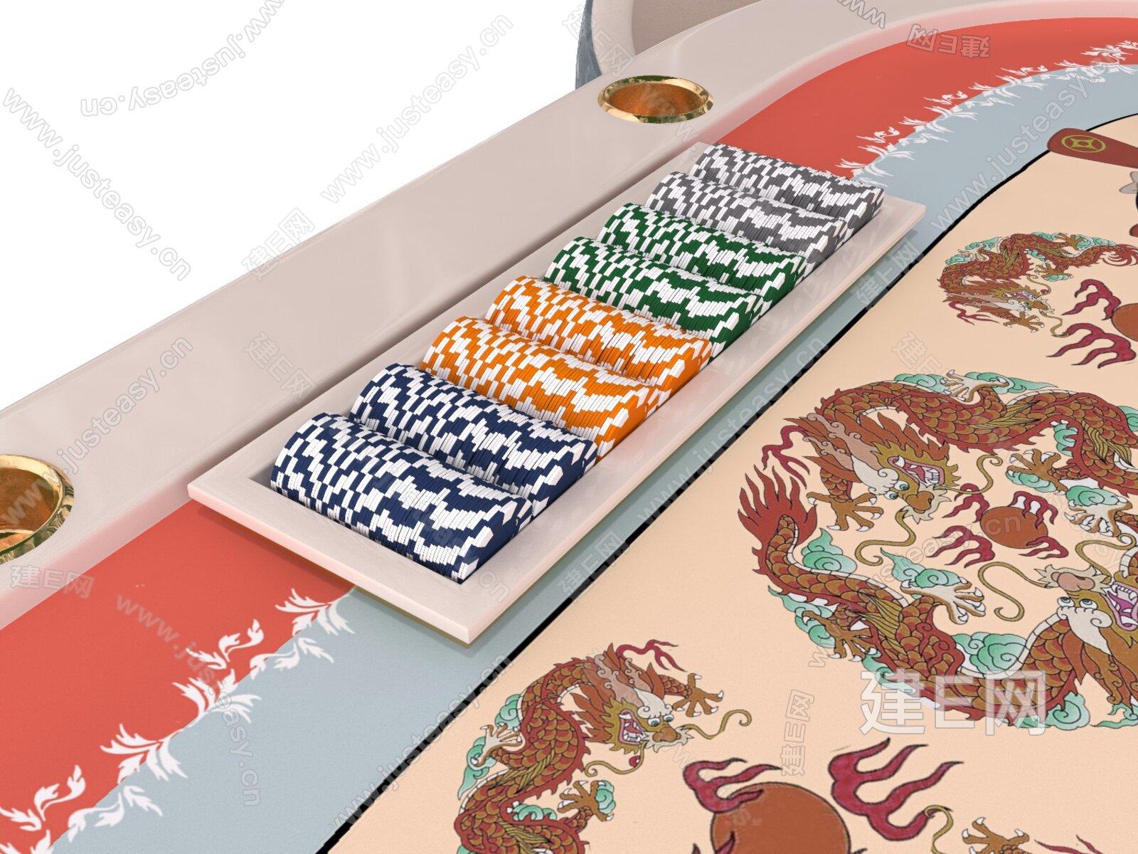 VISMARA DESIGN 现代棋牌桌椅组合3d模型
