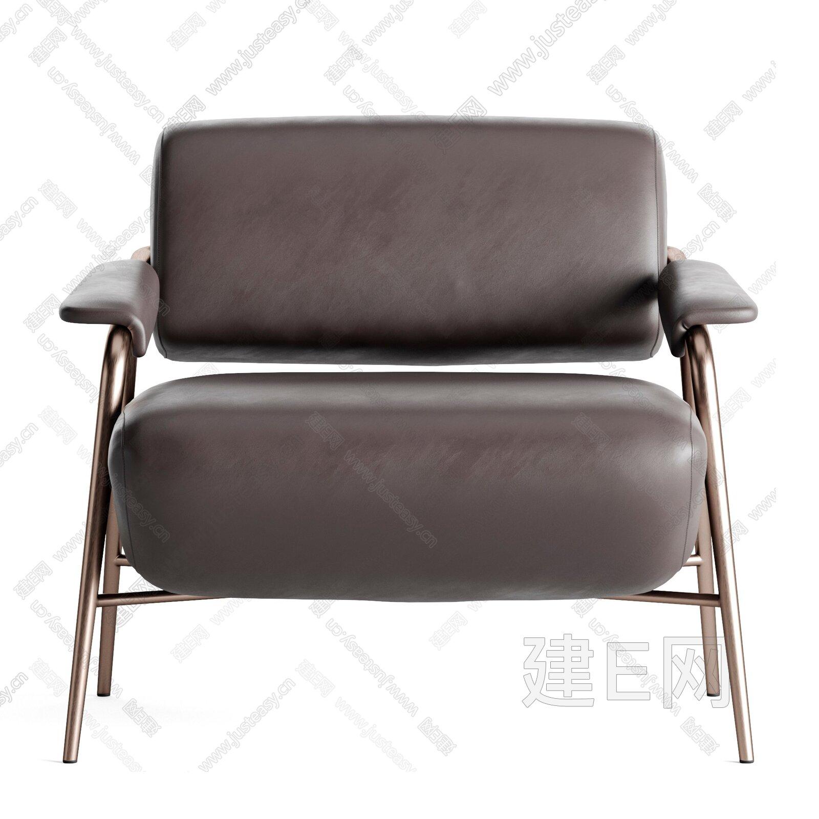 Potocco 現代皮革休閑椅3d模型