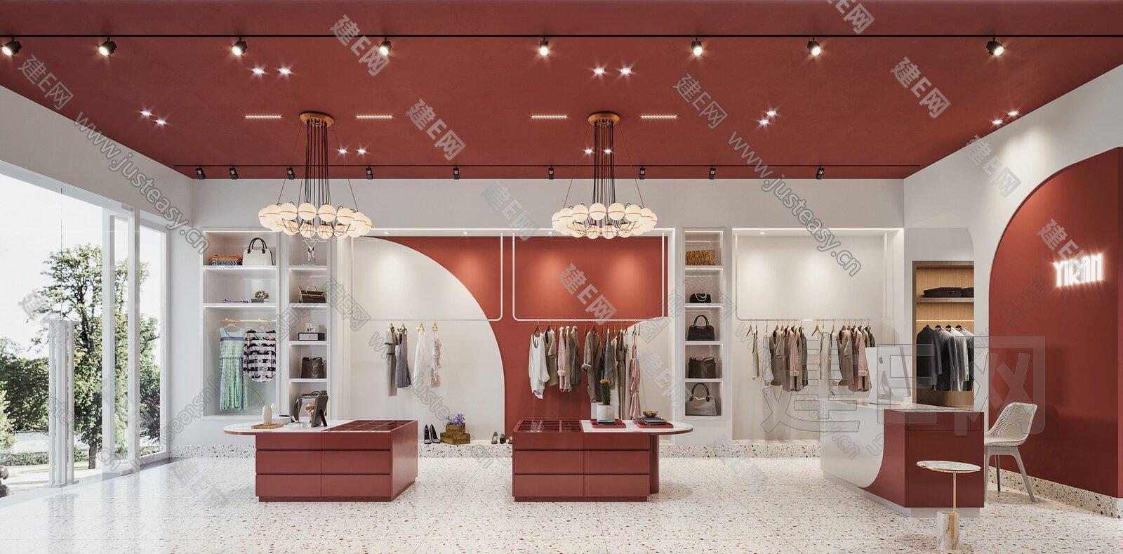 现代服装店 3d模型