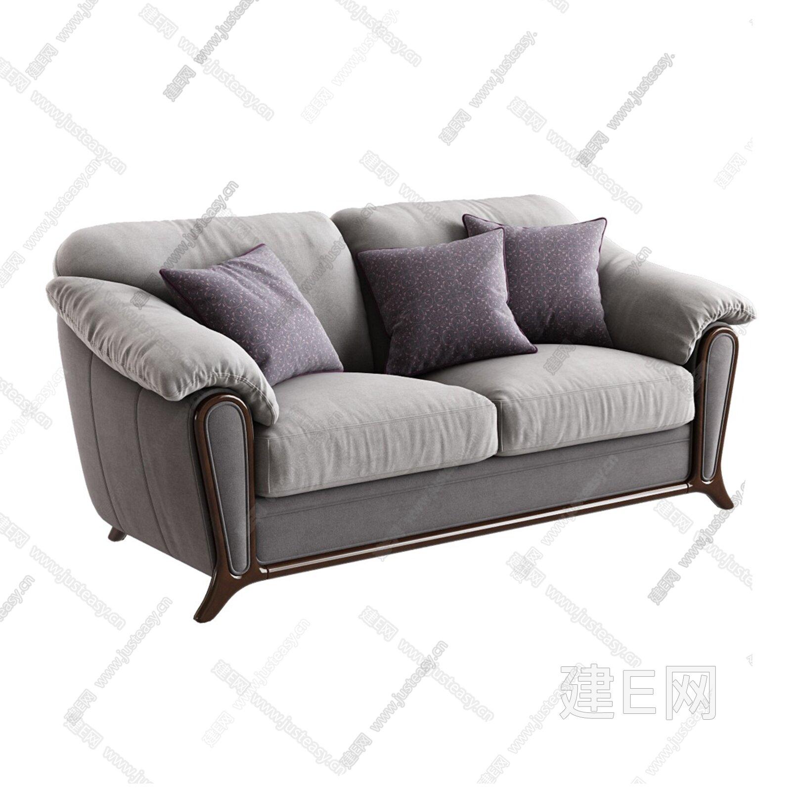 意大利 B&B Italia 现代双人沙发3d模型
