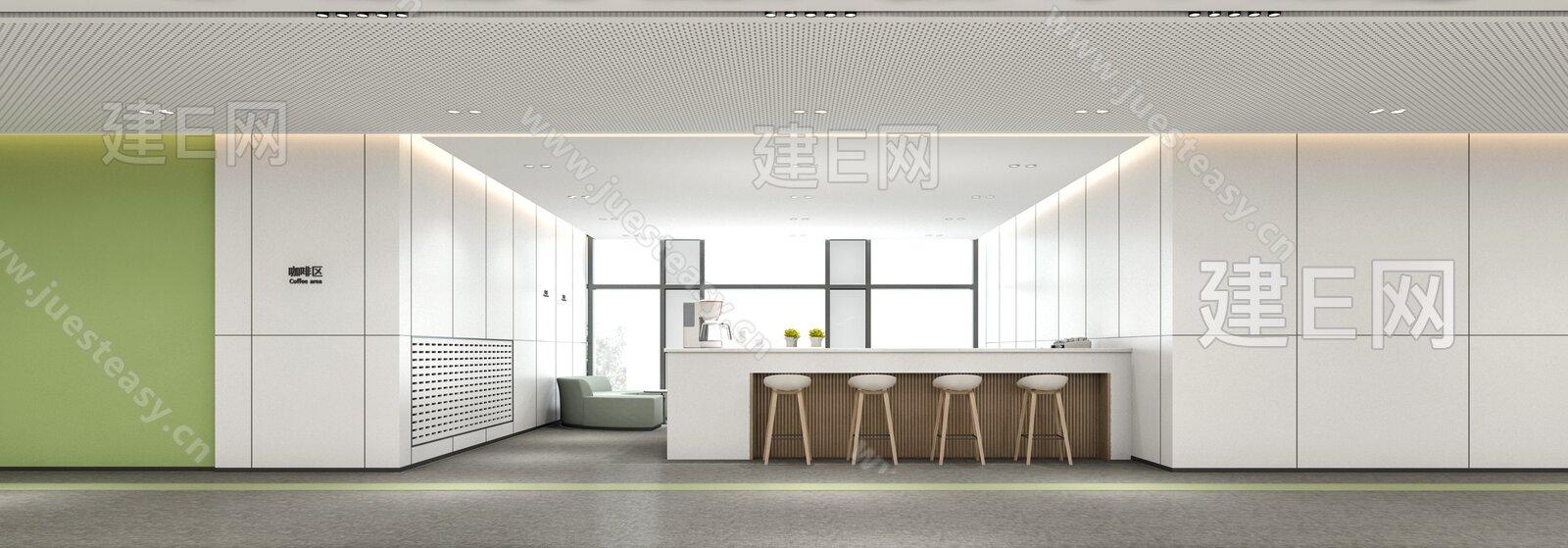 现代办公休息区3d模型