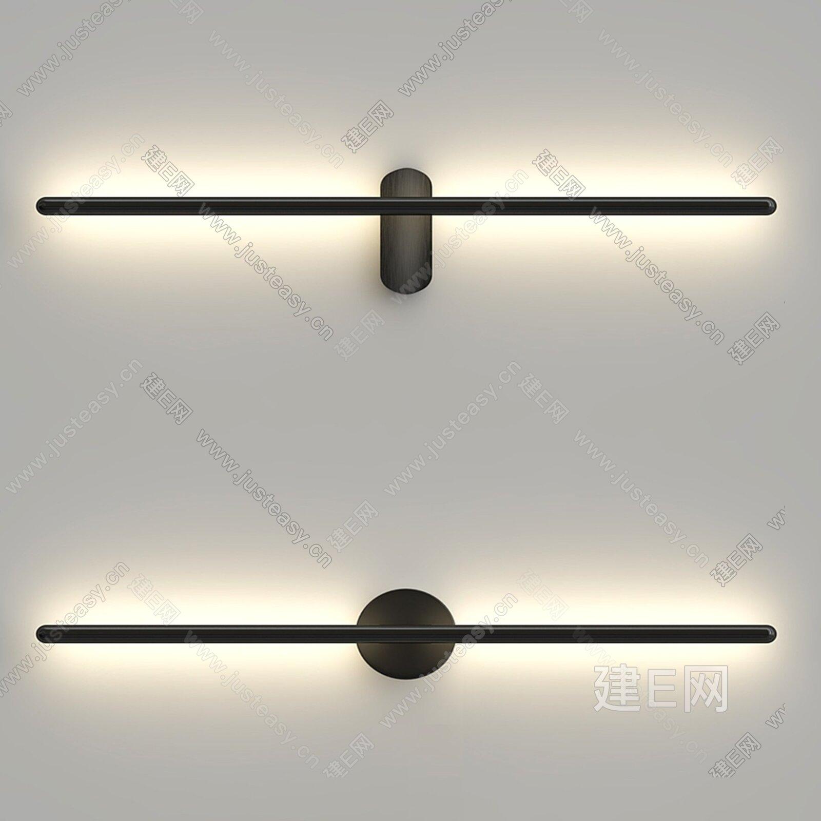 romatti 现代极简壁灯3d模型
