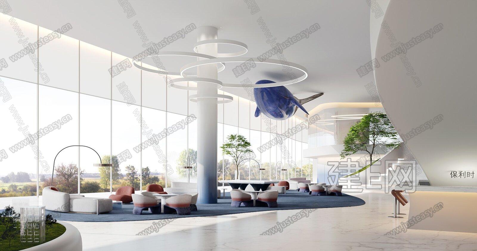 紫香舸设计 现代售楼处洽谈区 3d模型