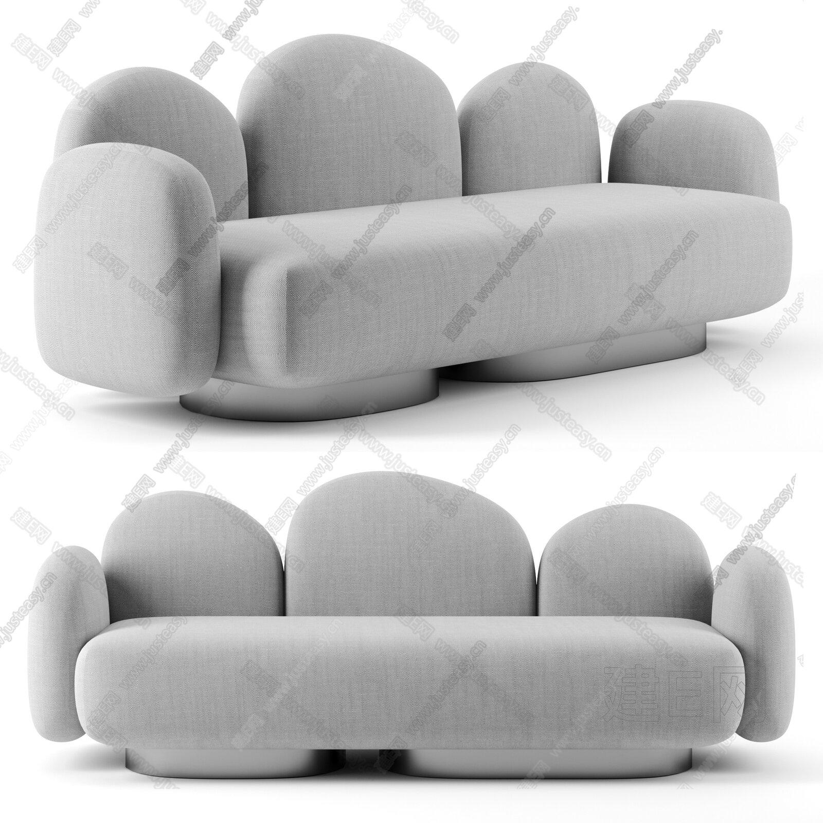 B&B Italia 现代多人沙发3d模型