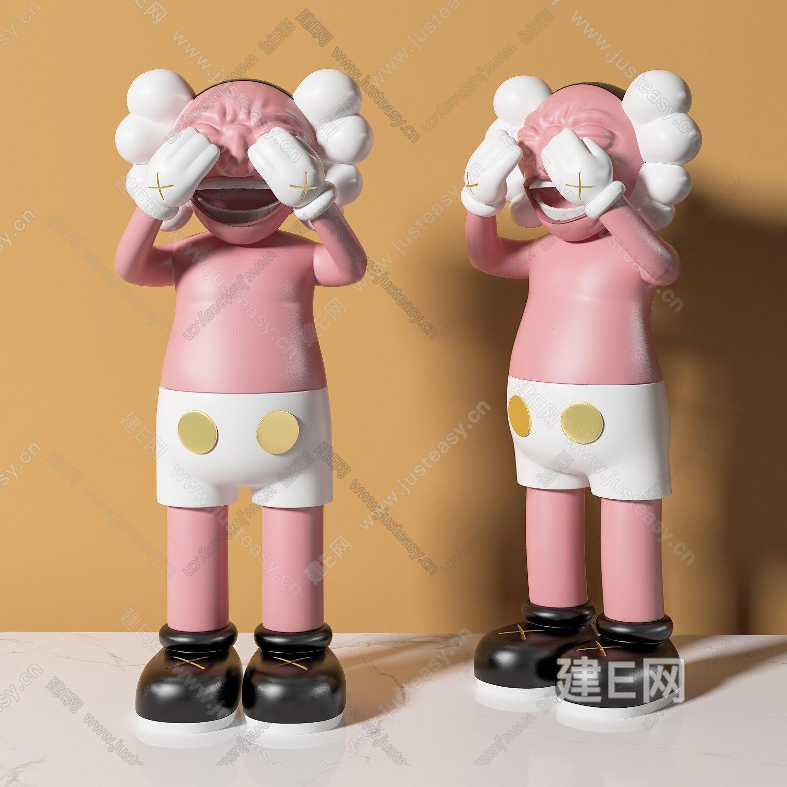kaws 现代雕塑3d模型