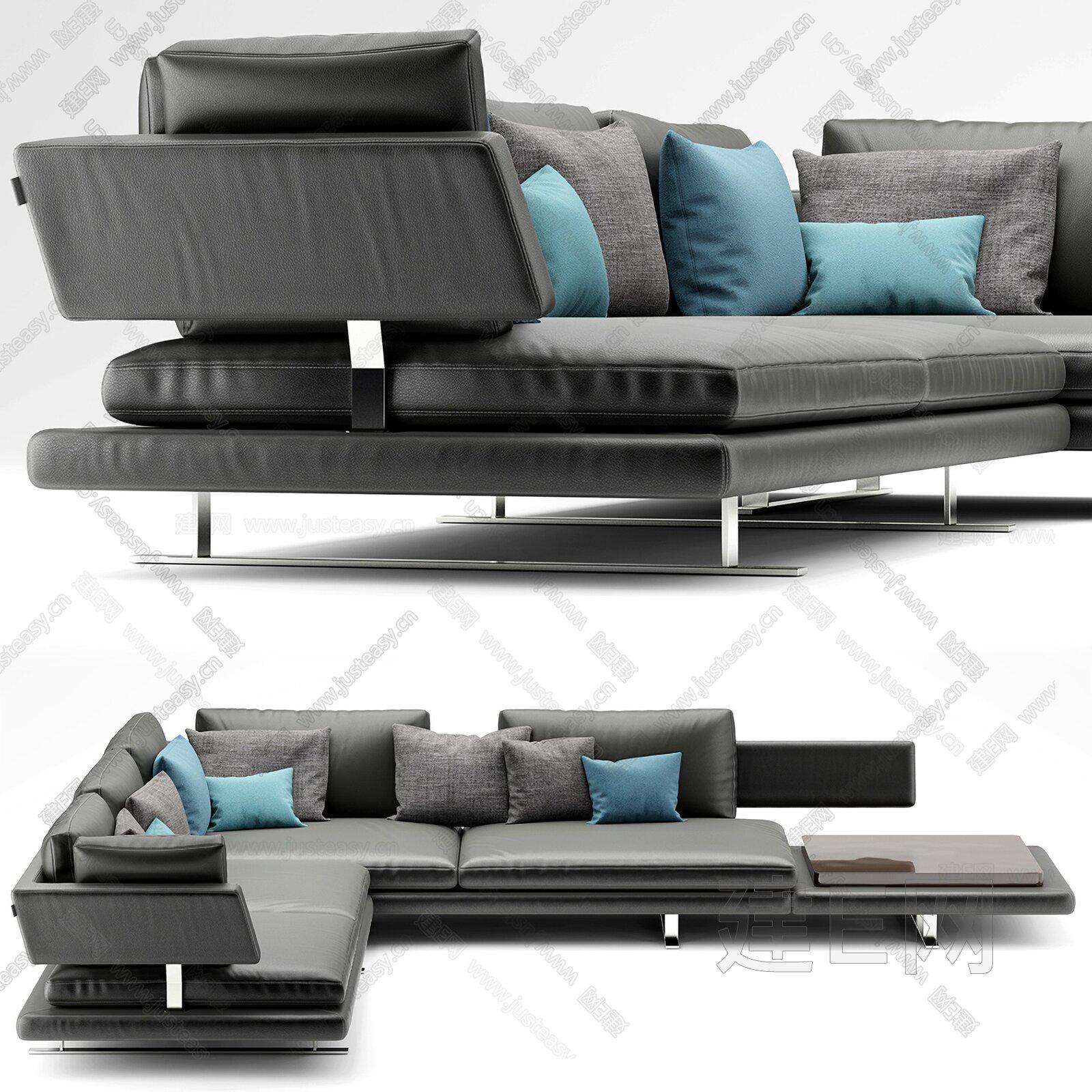 MisuraEmme 现代转角多人沙发3d模型