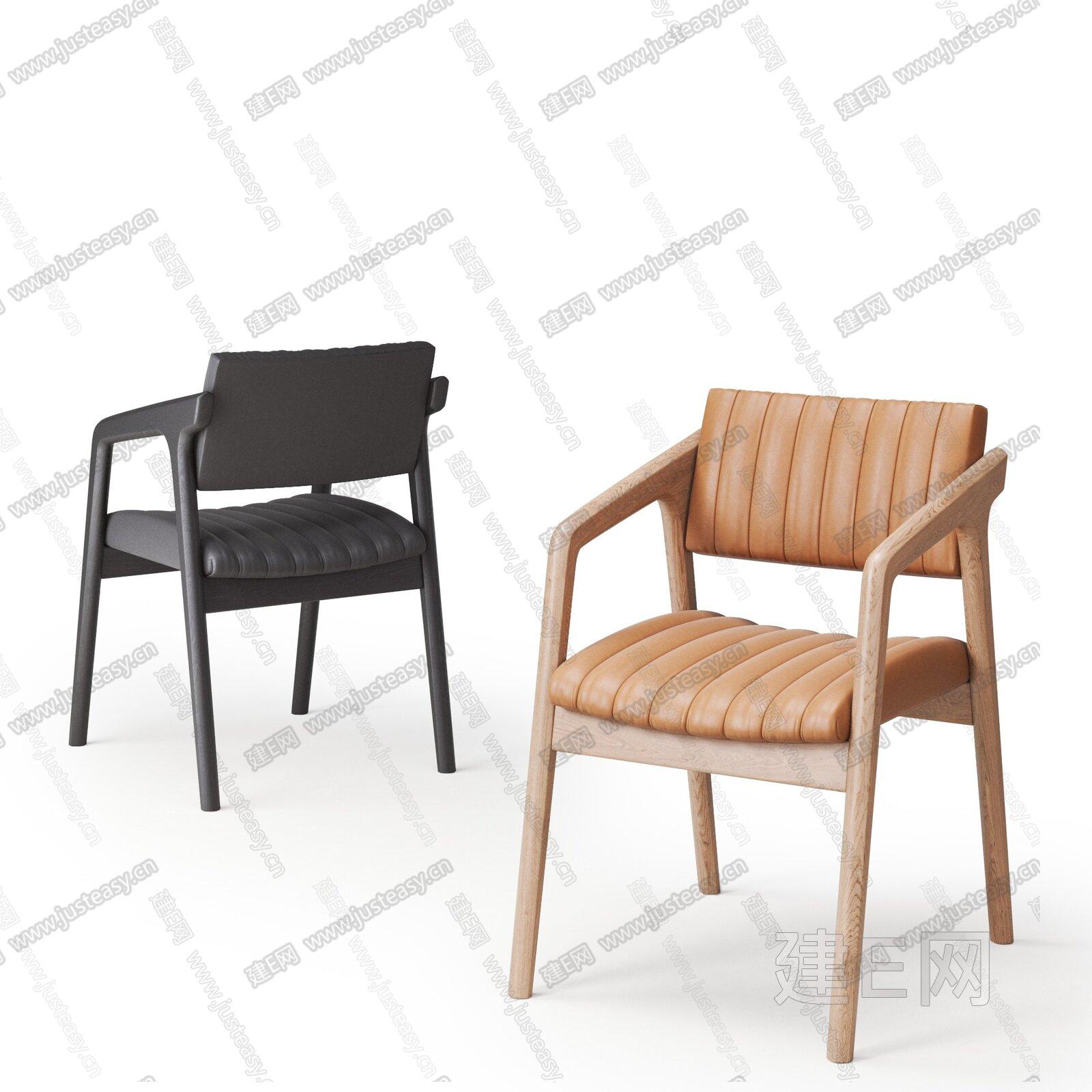 Calligaris 北欧单椅组合3d模型