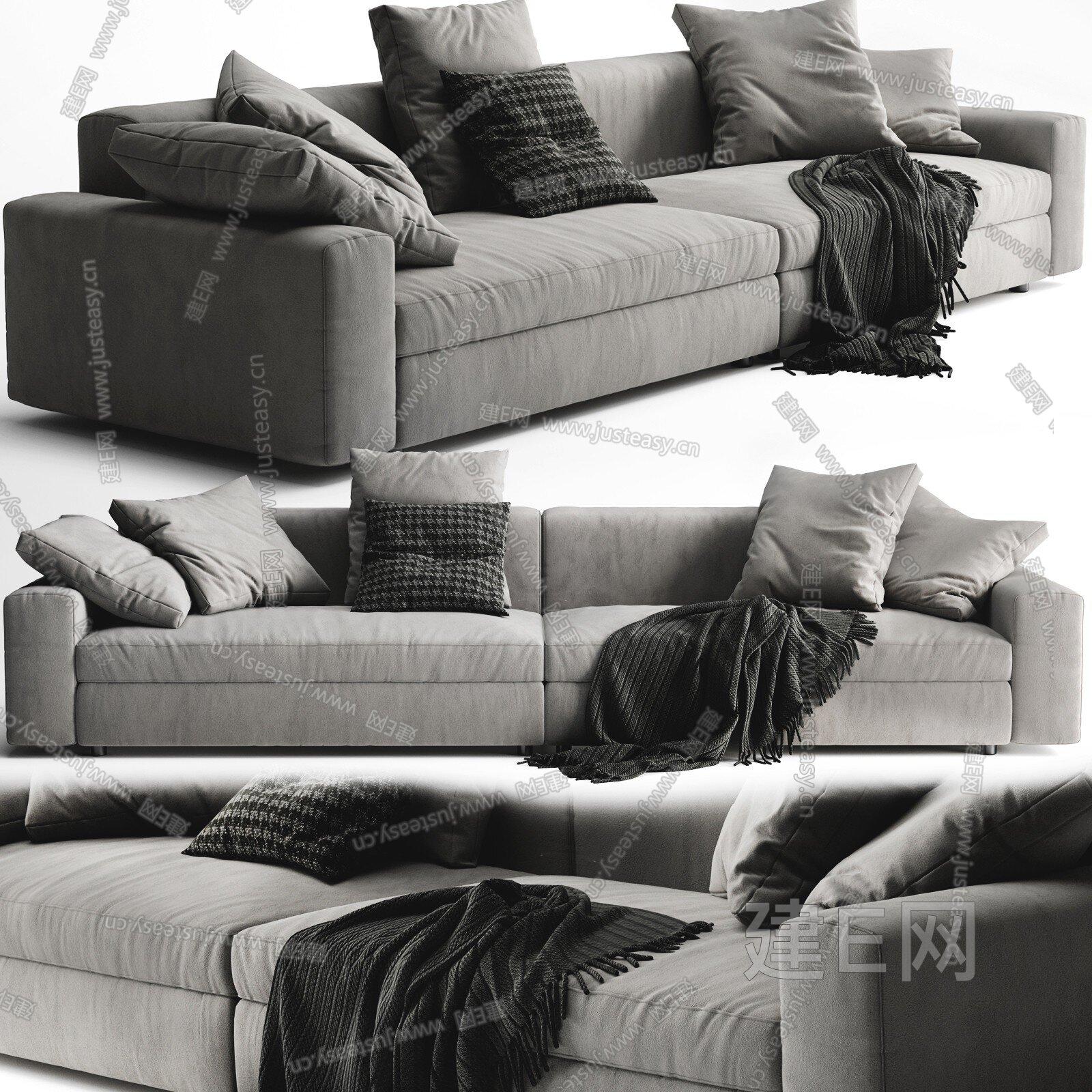 Poliform 现代布艺多人沙发3d模型