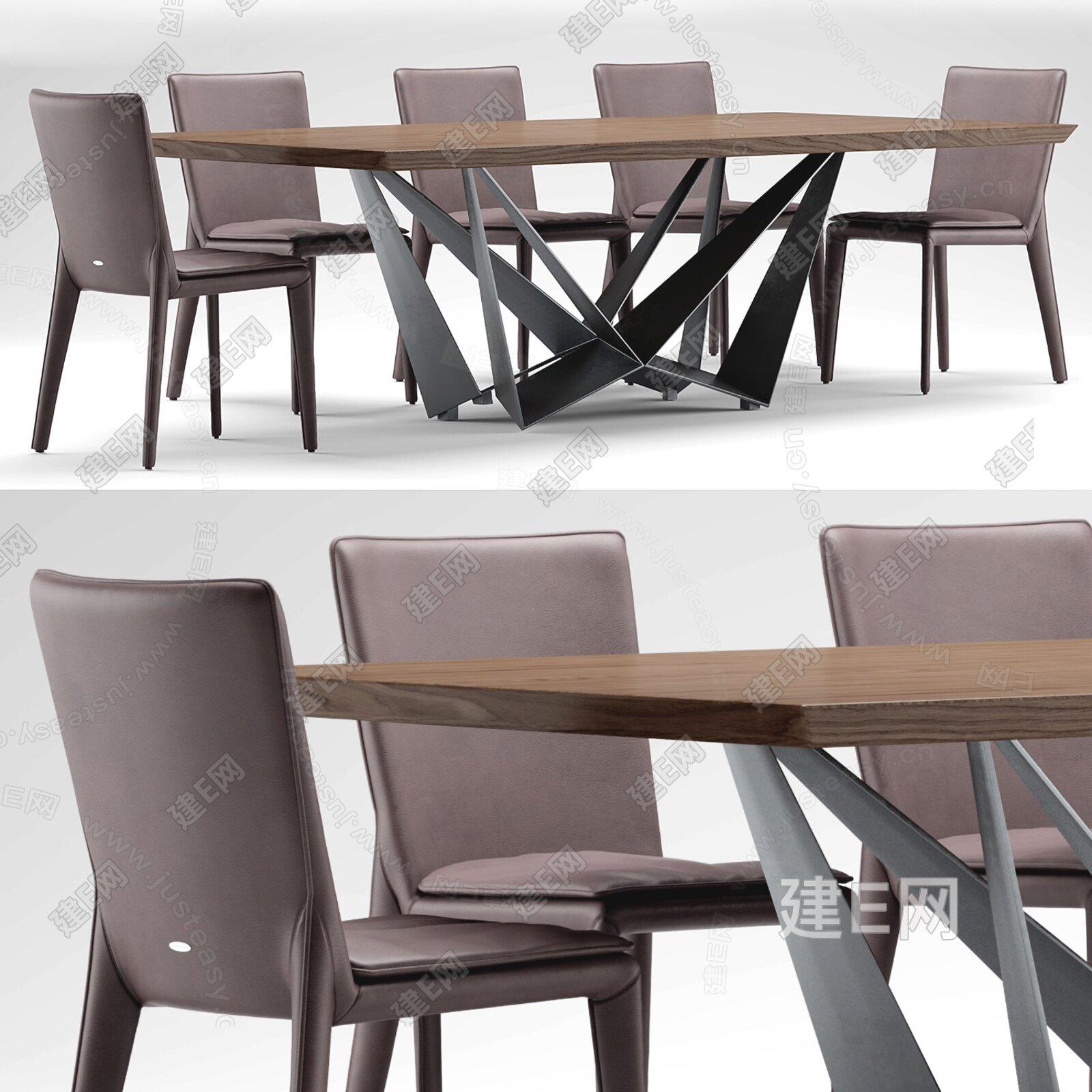Cattelan Italia 现代餐桌椅3d模型