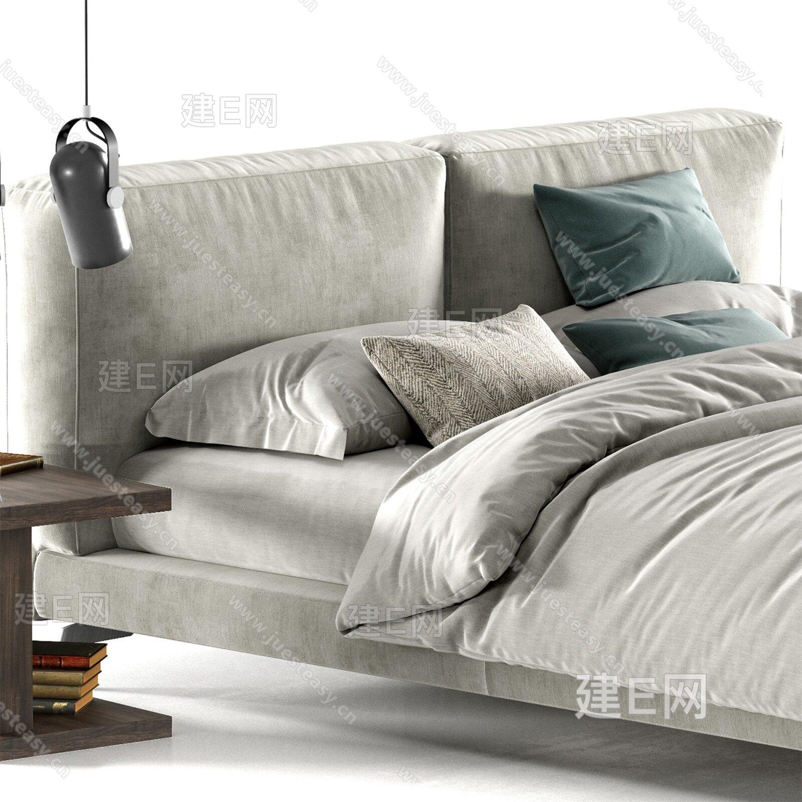 Ditre Italia 现代布艺双人床3d模型