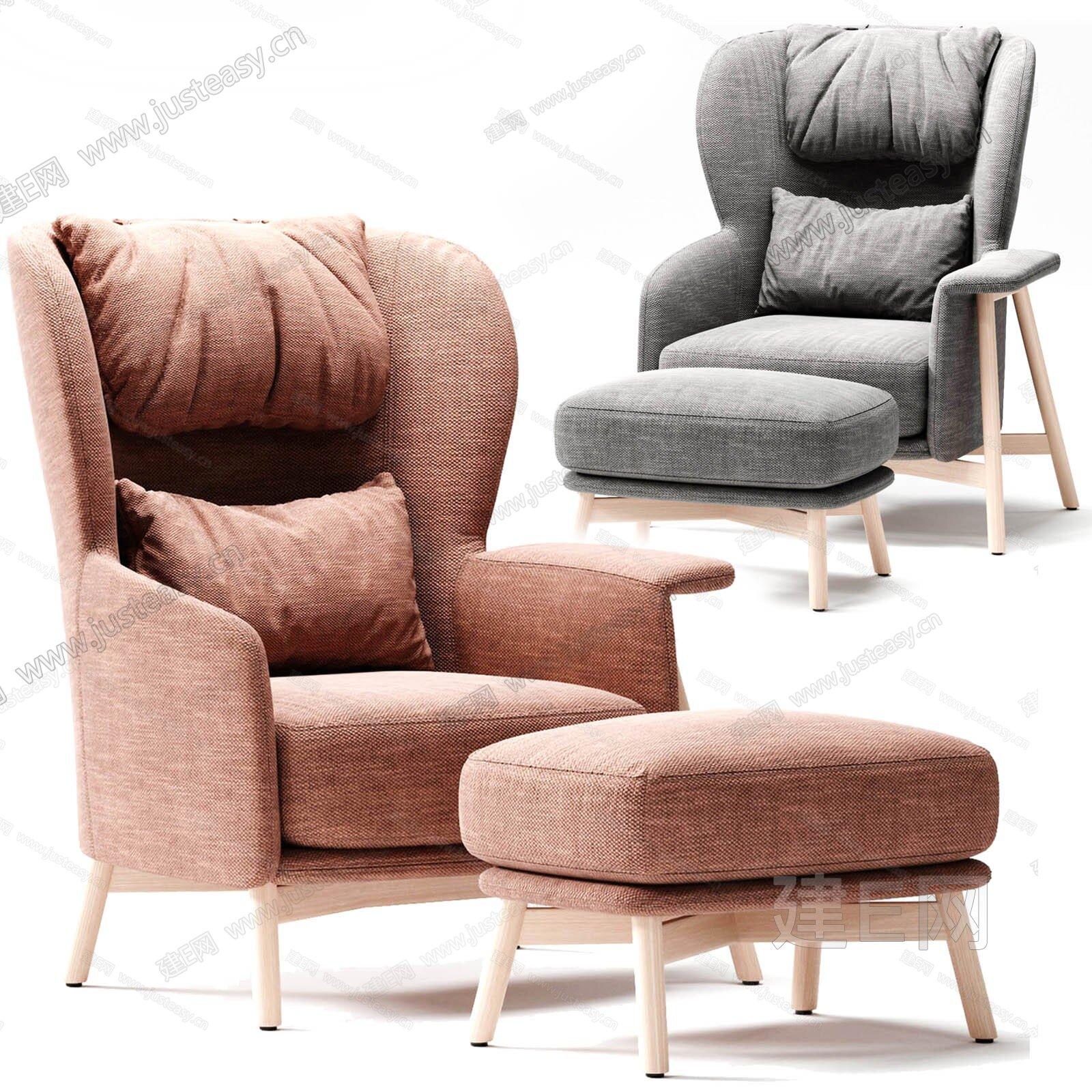 Saba 北欧单椅3d模型