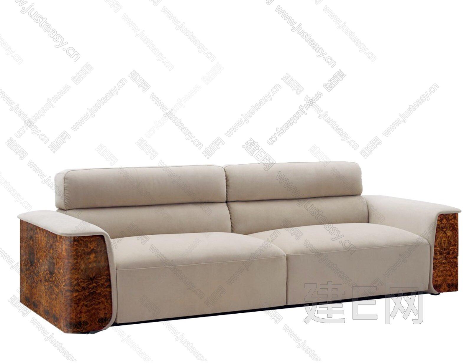 Bentley 宾利 现代多人沙发3d模型