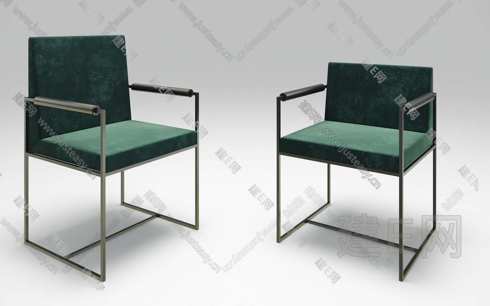 Meridiani 现代轻奢单椅3d模型
