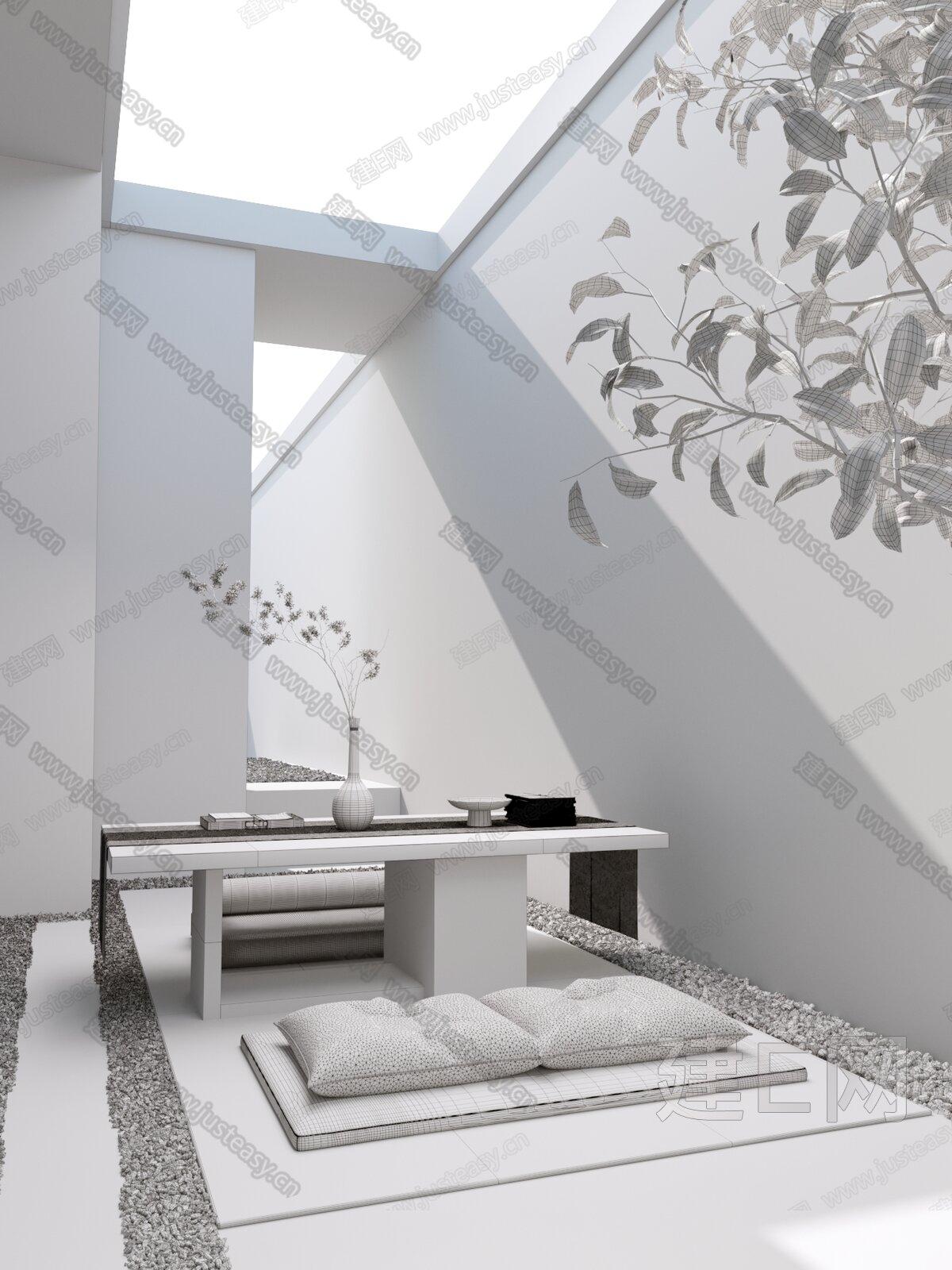 SSD设计 新中式茶室3d模型