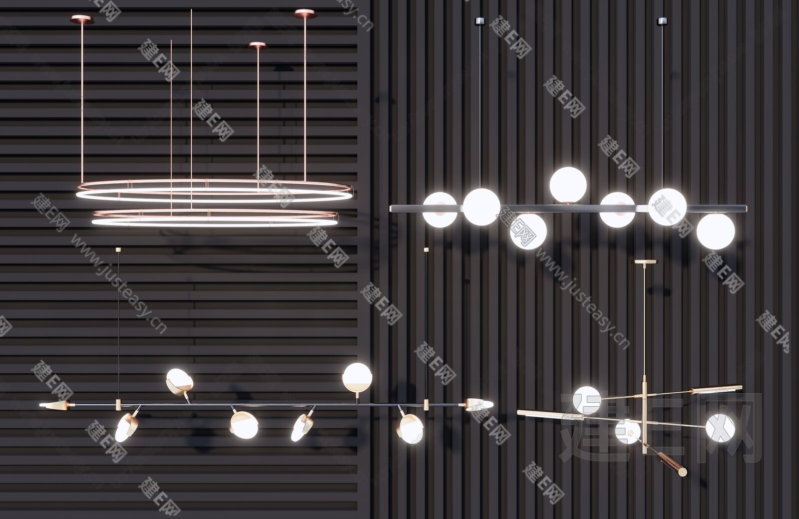 现代吊灯sketchup模型