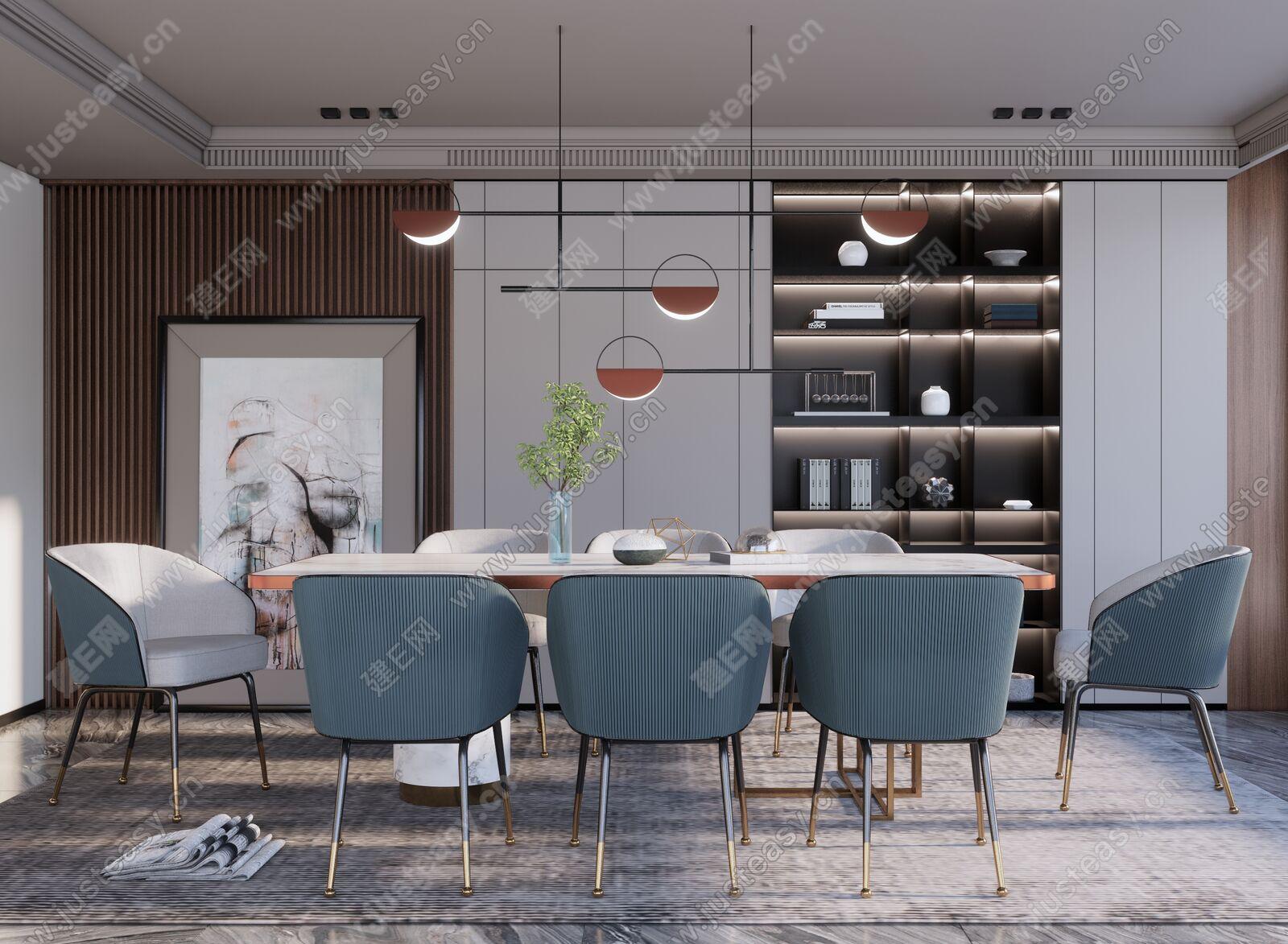 现代餐厅sketchup模型