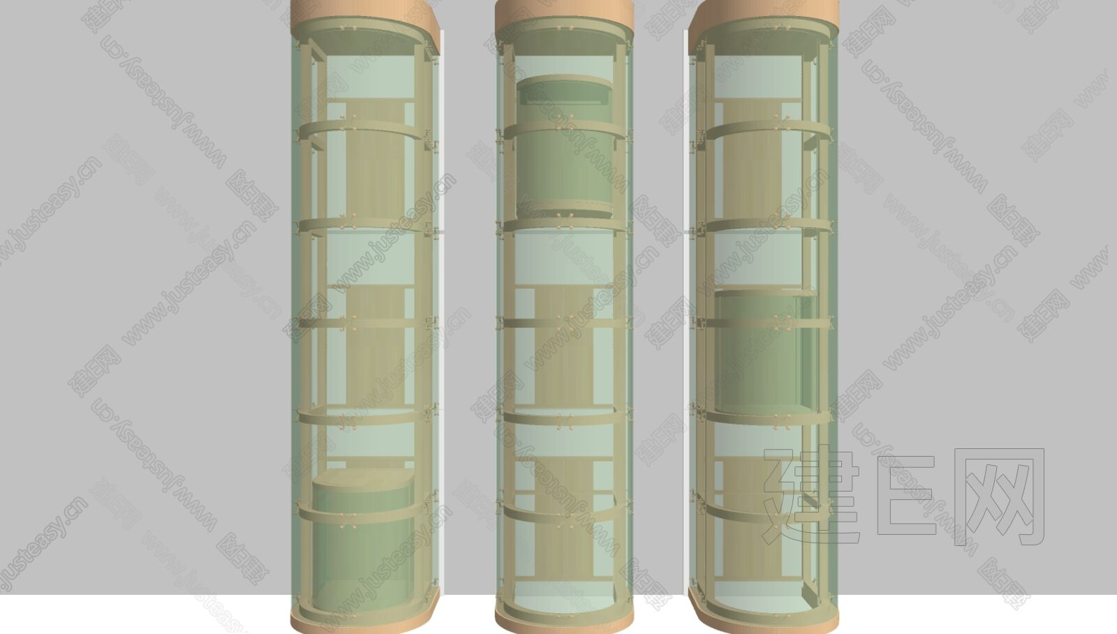 现代电梯门sketchup模型