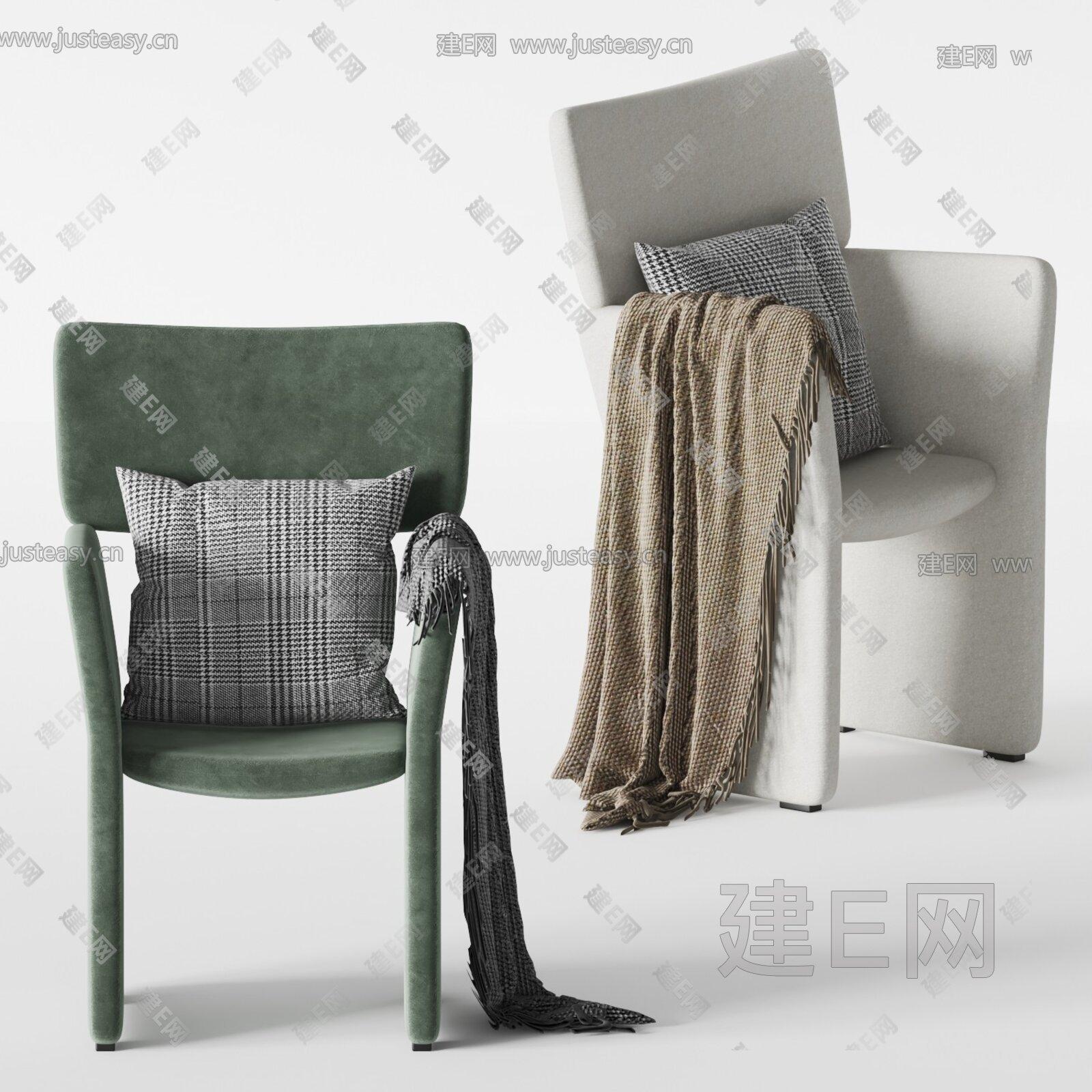 Morelato 现代单椅组合3d模型