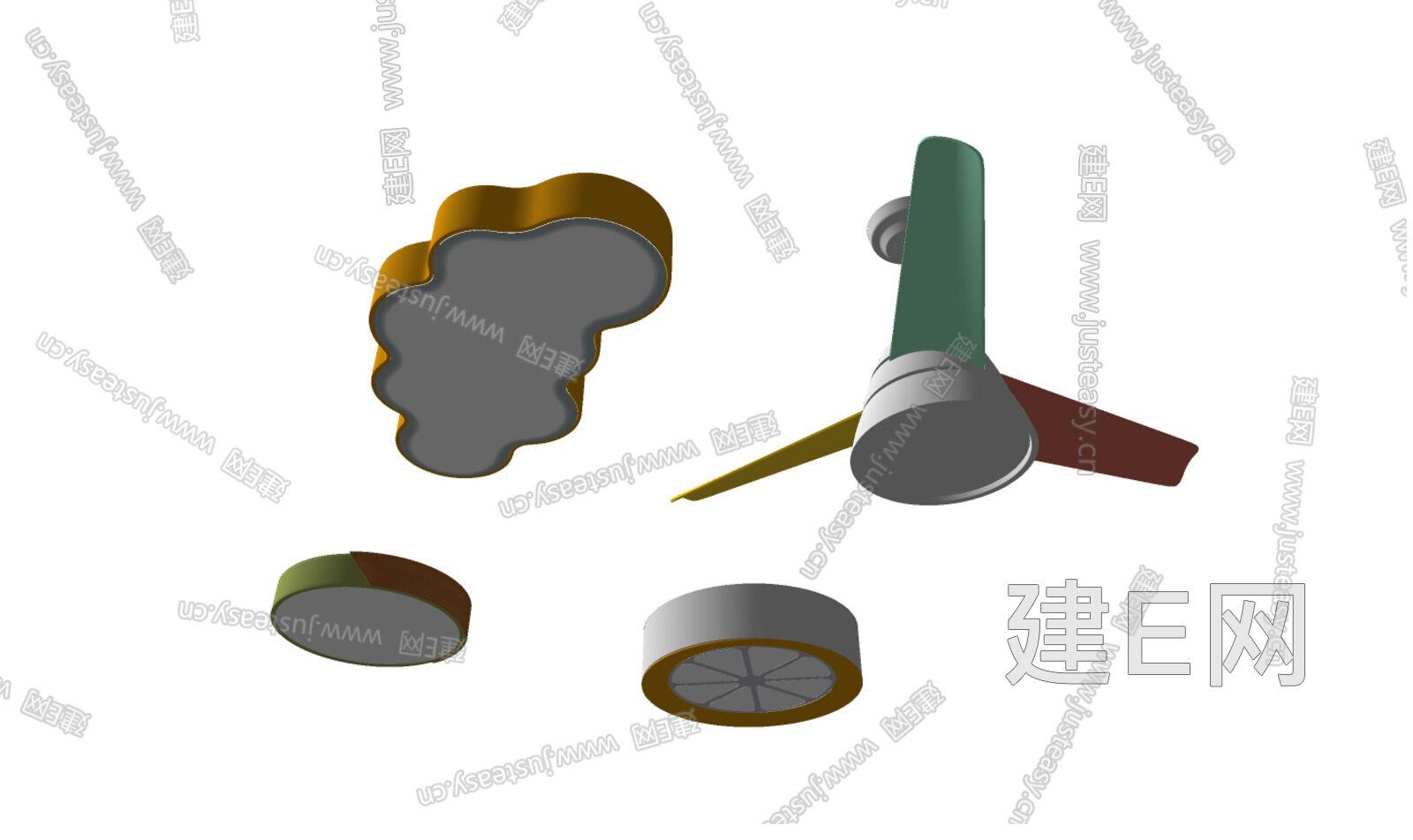 现代吸顶灯组合sketchup模型