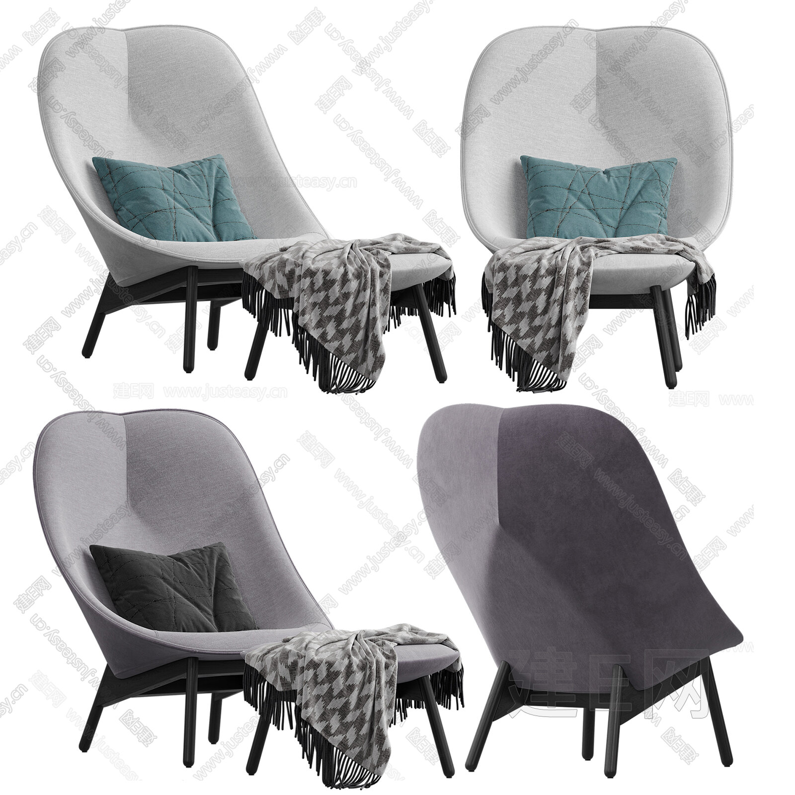 Hay 现代休闲椅3d模型