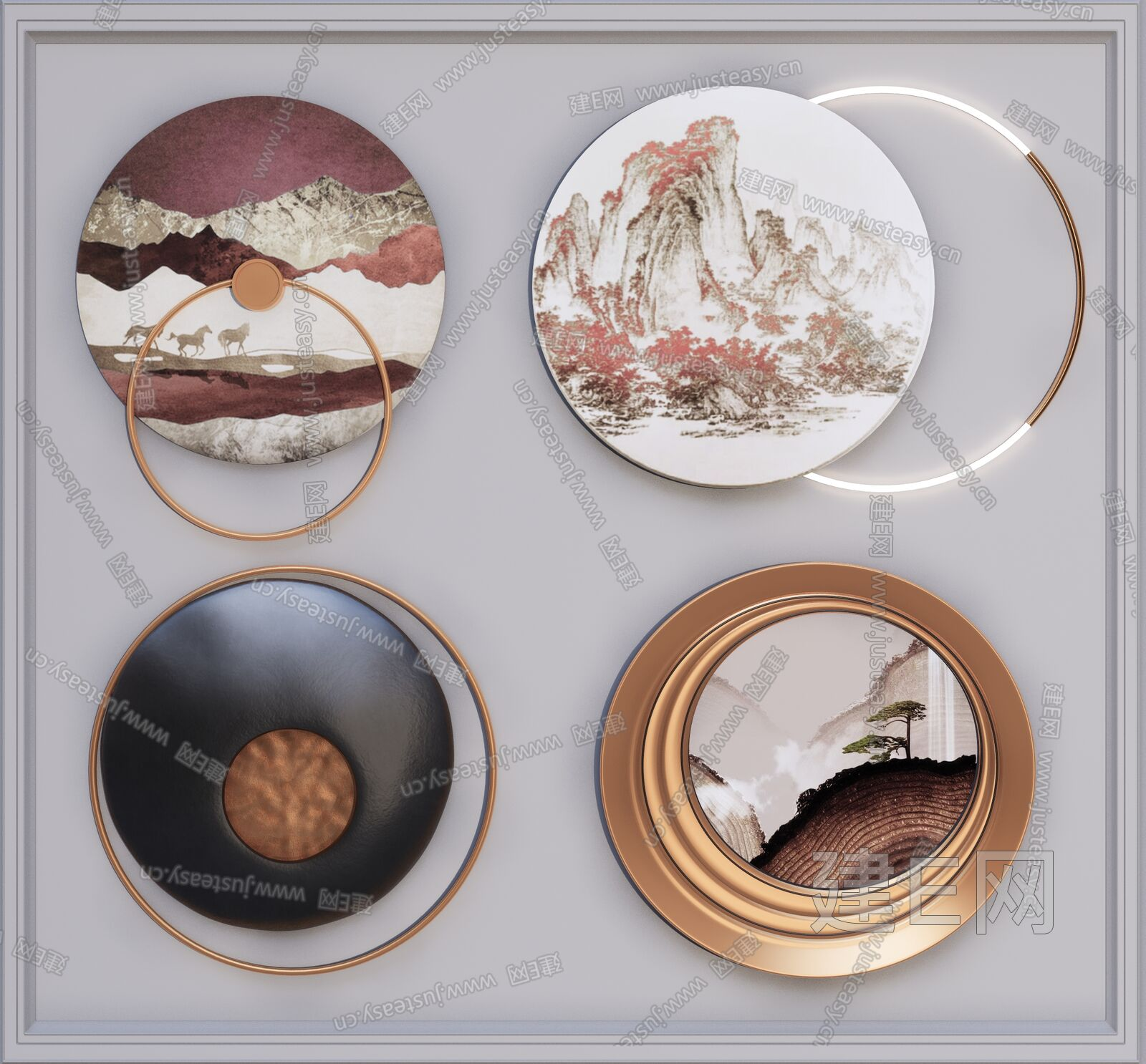 新中式装饰品sketchup模型