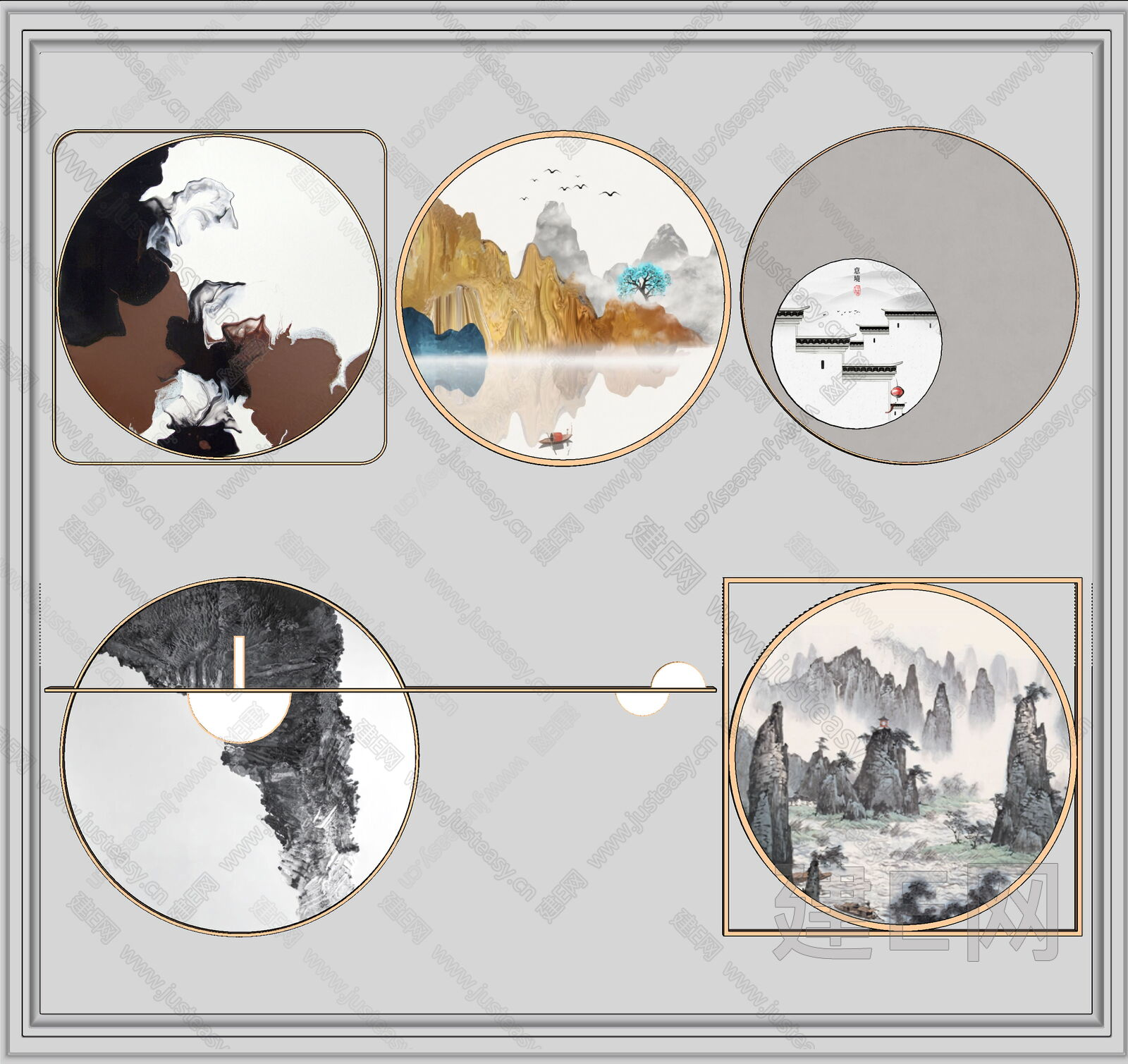 新中式装饰sketchup模型