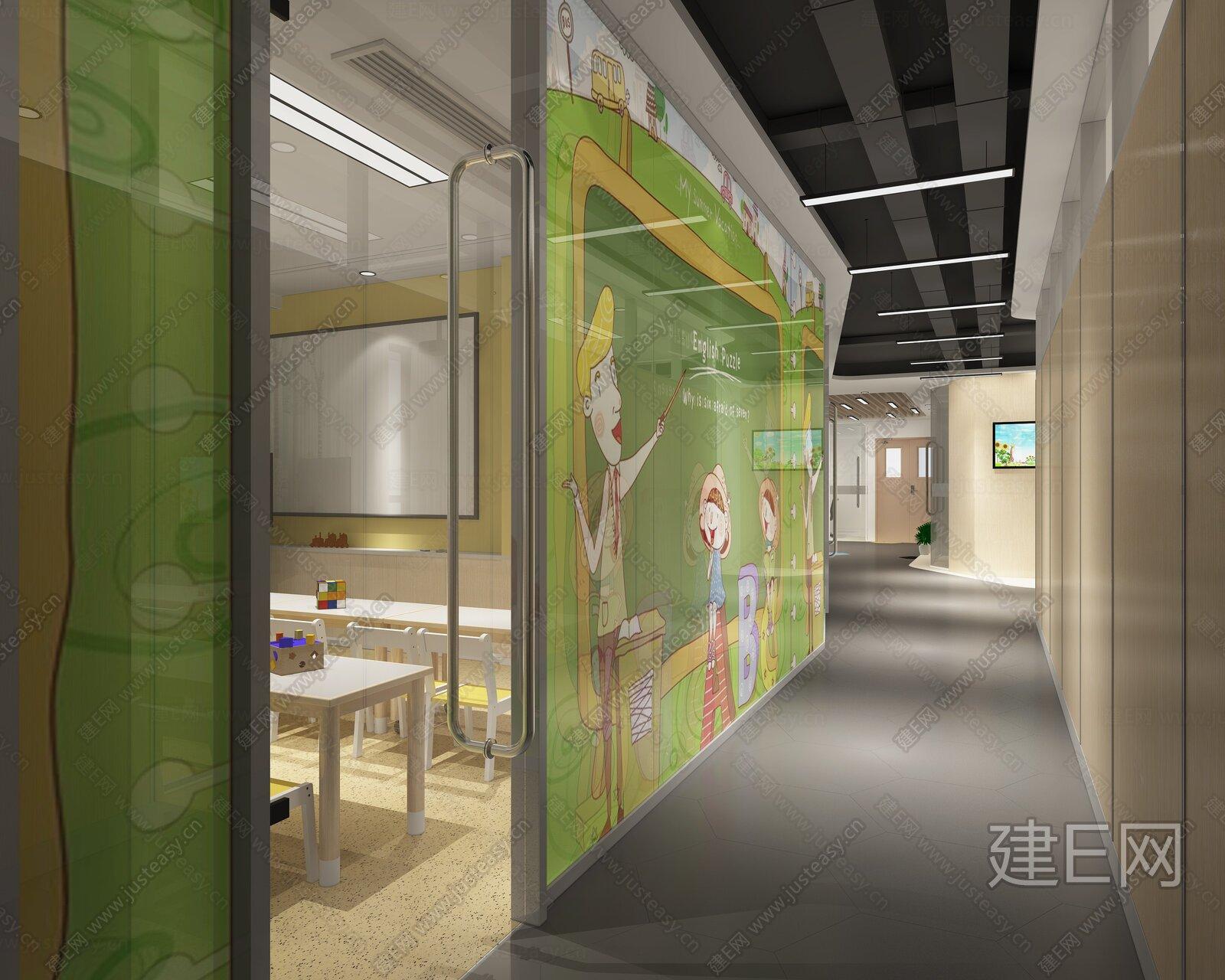 【培训中心】未来城B1区块丨CAD施工图+机电施工图+效果图