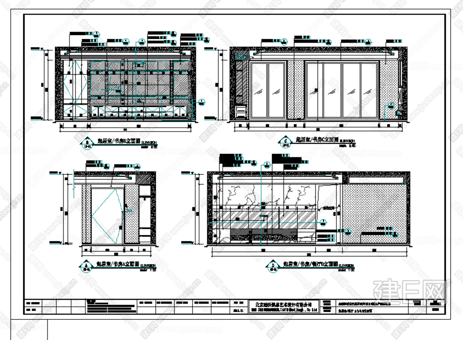 现代都市样板间全套施工图|CAD施工图+效果图+材料清单+方案汇报文件+软装方案