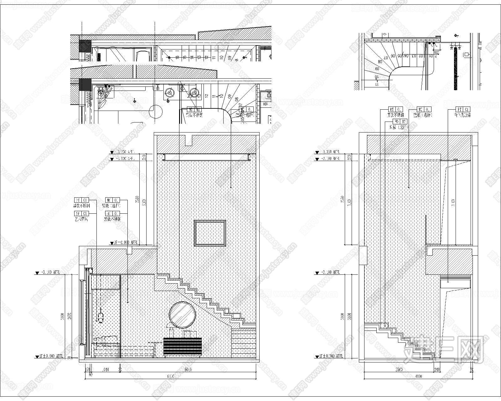 跃层图纸|CAD施工图