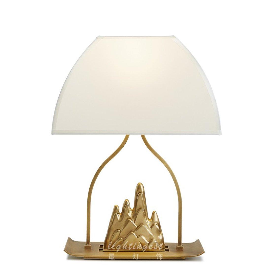 新中式山水金属台灯