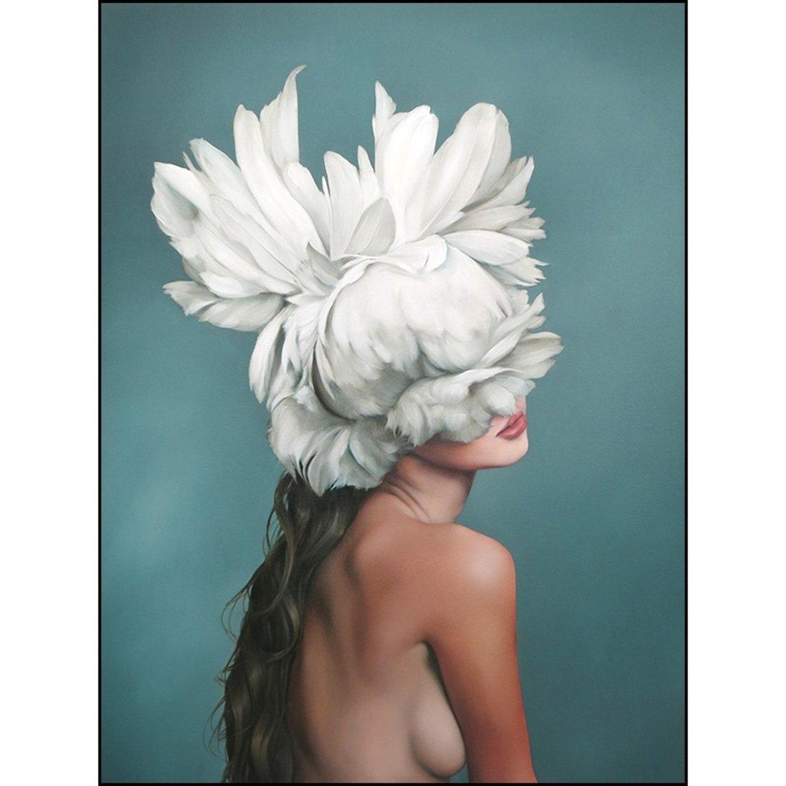 「天使羽翼」黑白人物挂画