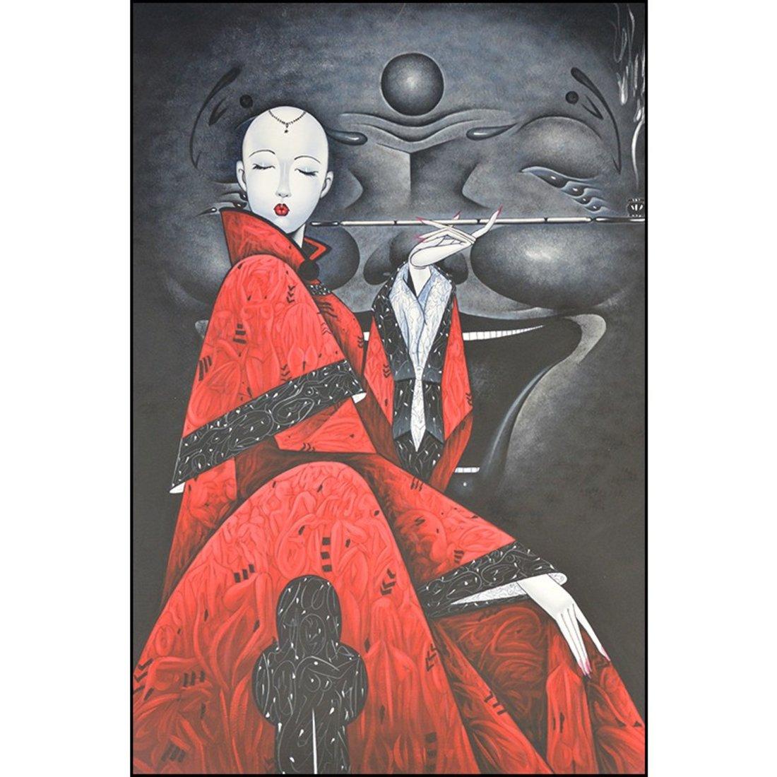 「装饰画」人物超大幅抽象挂画