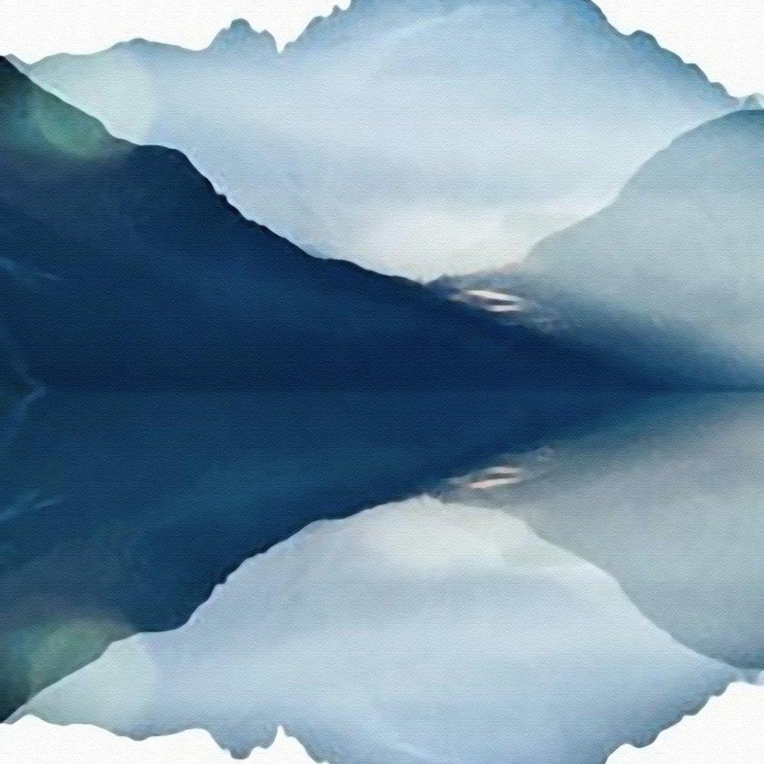 新中式抽象山水挂画