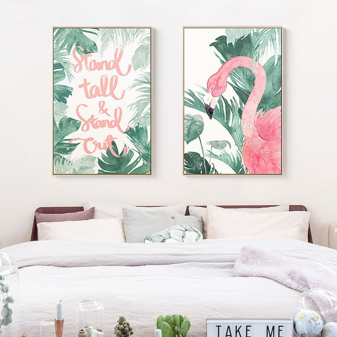 粉色火烈鸟装饰画