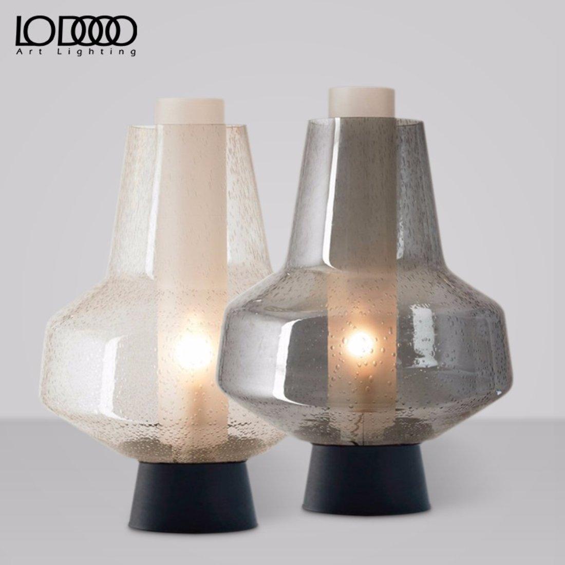 北欧复古气泡玻璃台灯