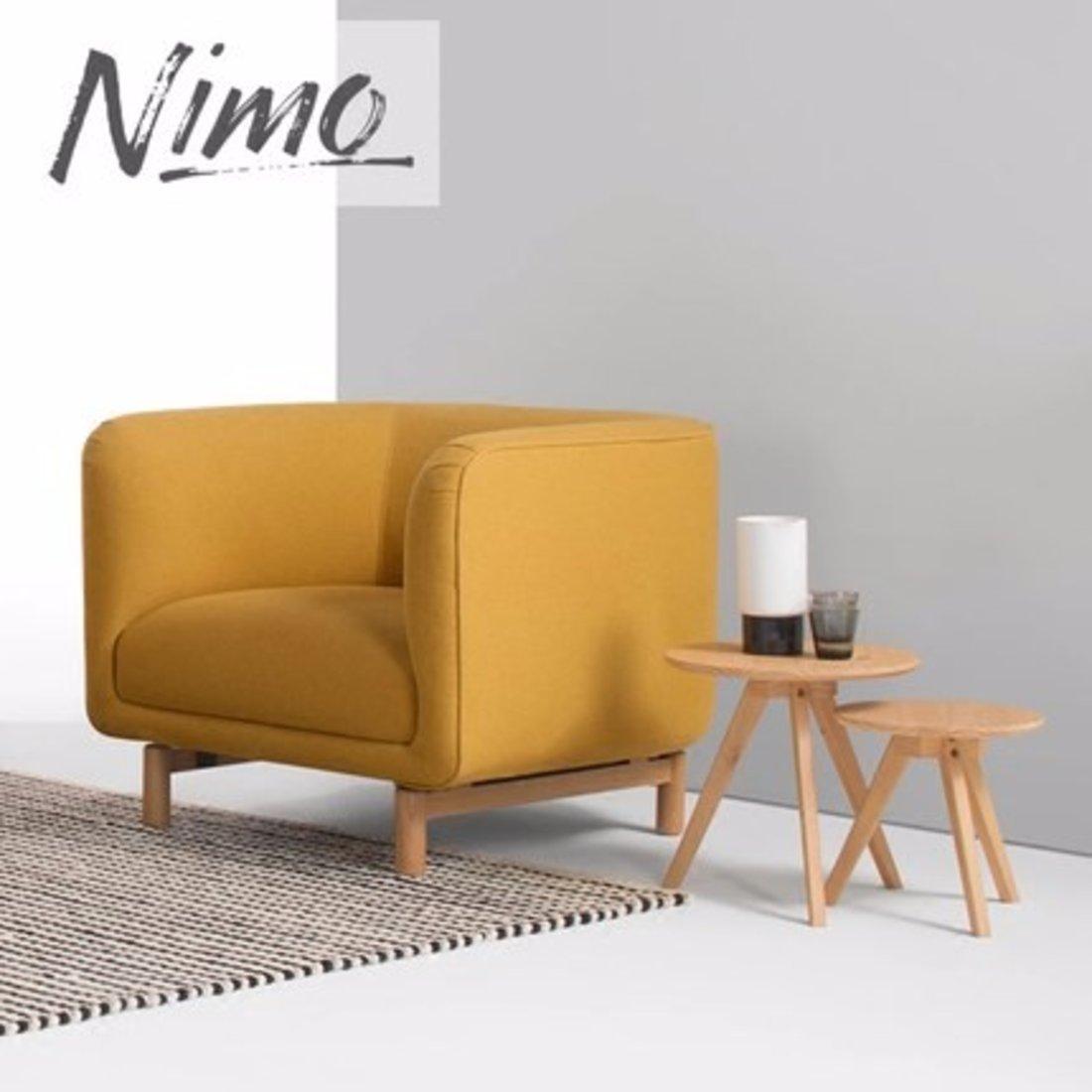 北欧现代布艺实木组合沙发