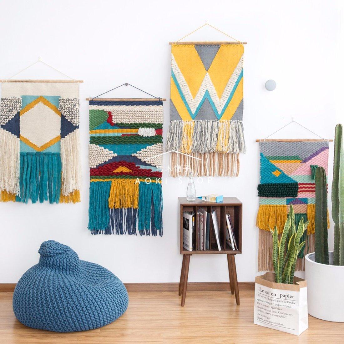 「挂毯」羊毛手工编织挂毯
