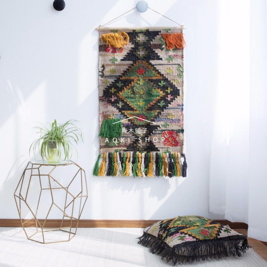 「装饰挂毯」手工编织墙面装饰