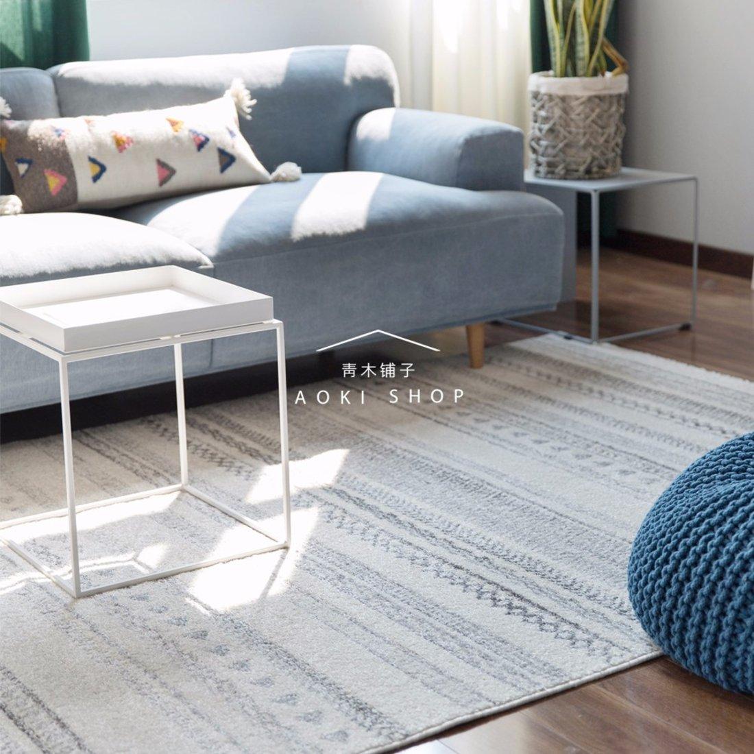 法式几何图案地毯